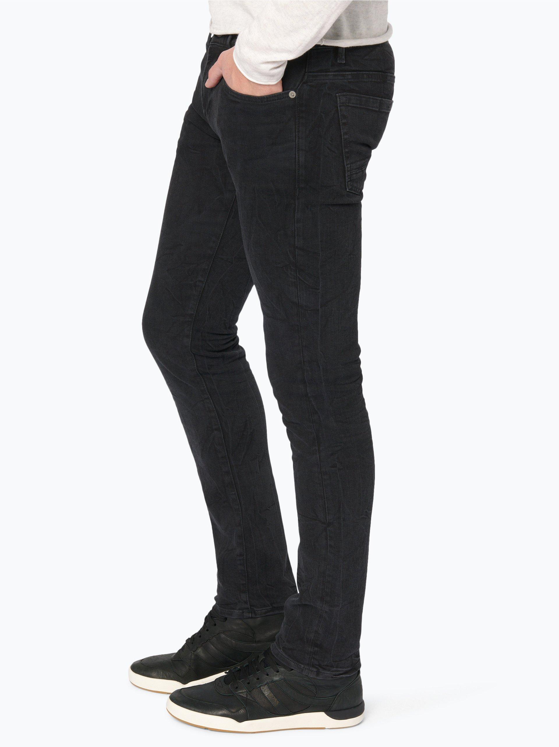 boss orange herren jeans orange 72 schwarz uni online kaufen vangraaf com. Black Bedroom Furniture Sets. Home Design Ideas