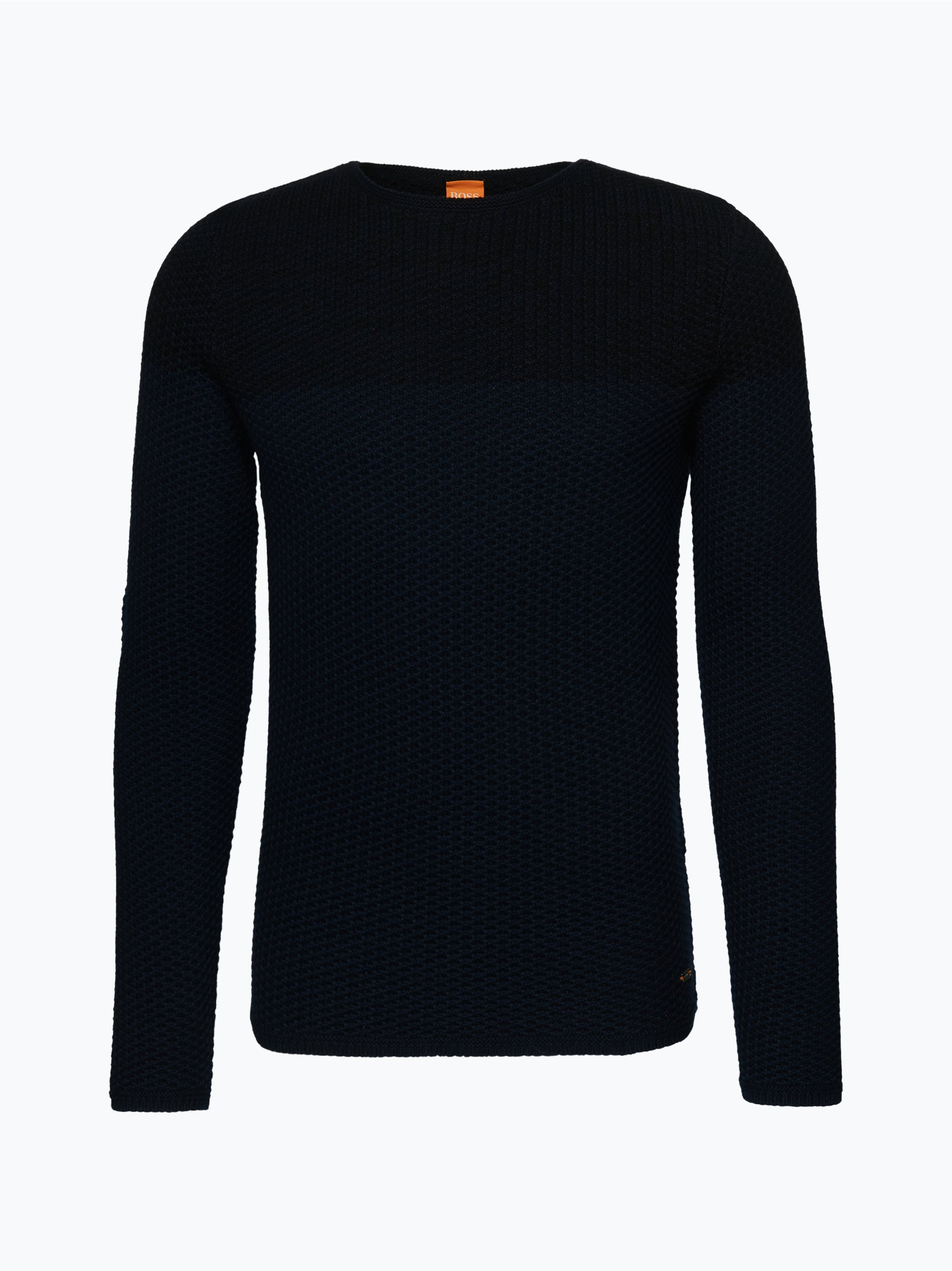boss orange herren pullover kwenys marine uni online. Black Bedroom Furniture Sets. Home Design Ideas