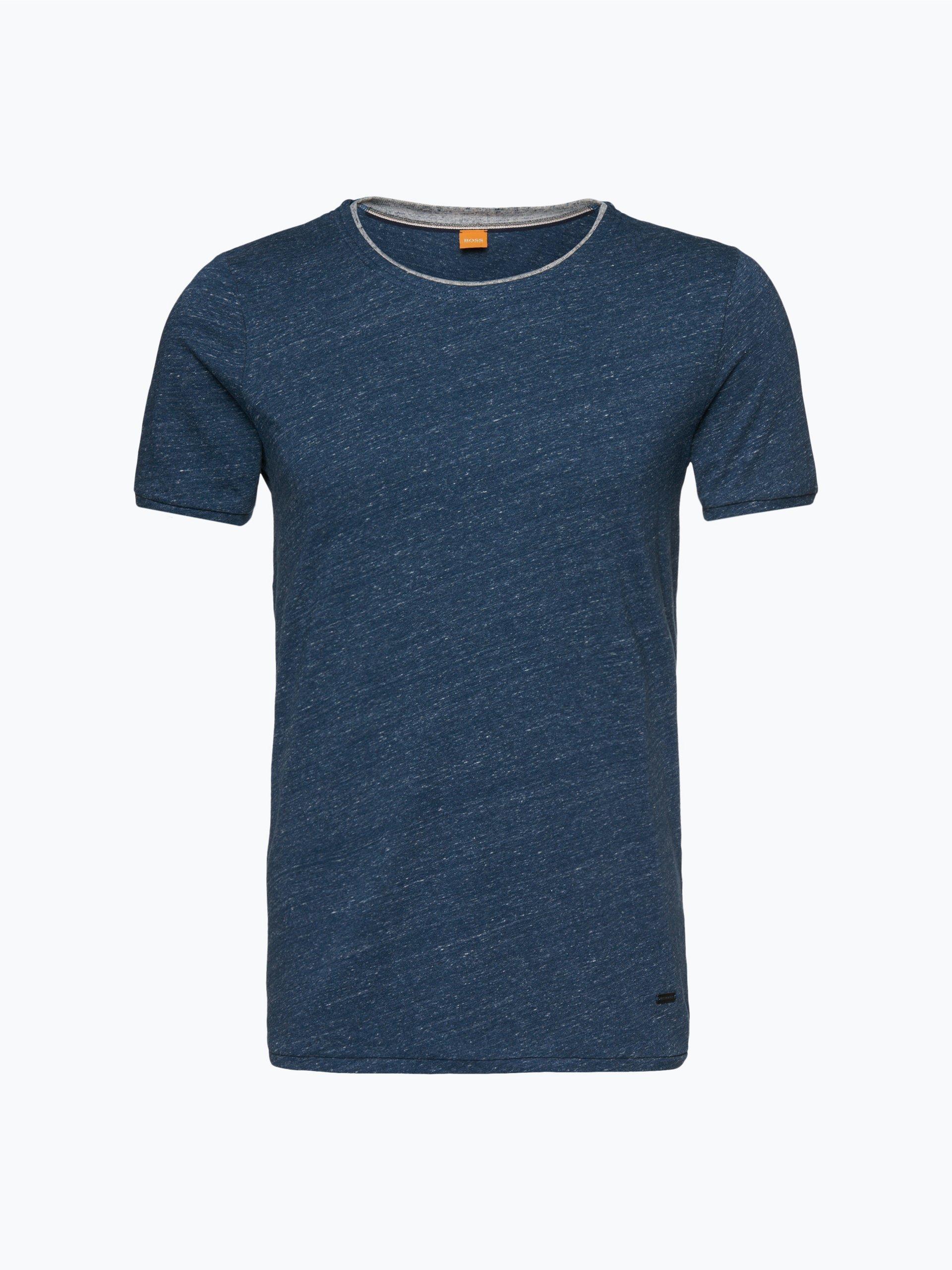 boss orange herren t shirt twidget marine uni online. Black Bedroom Furniture Sets. Home Design Ideas