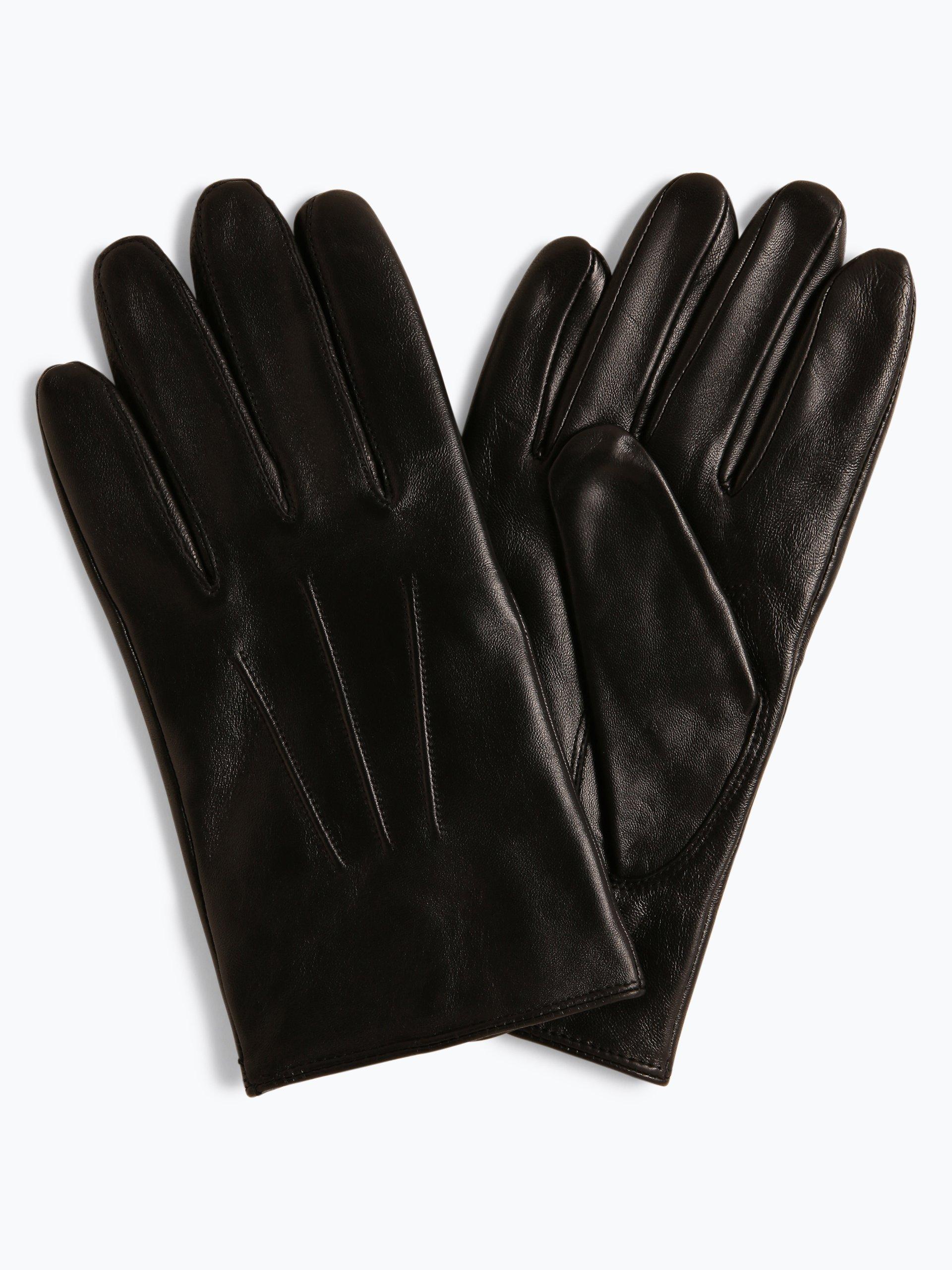 BOSS Skórzane rękawiczki męskie – Hainz2