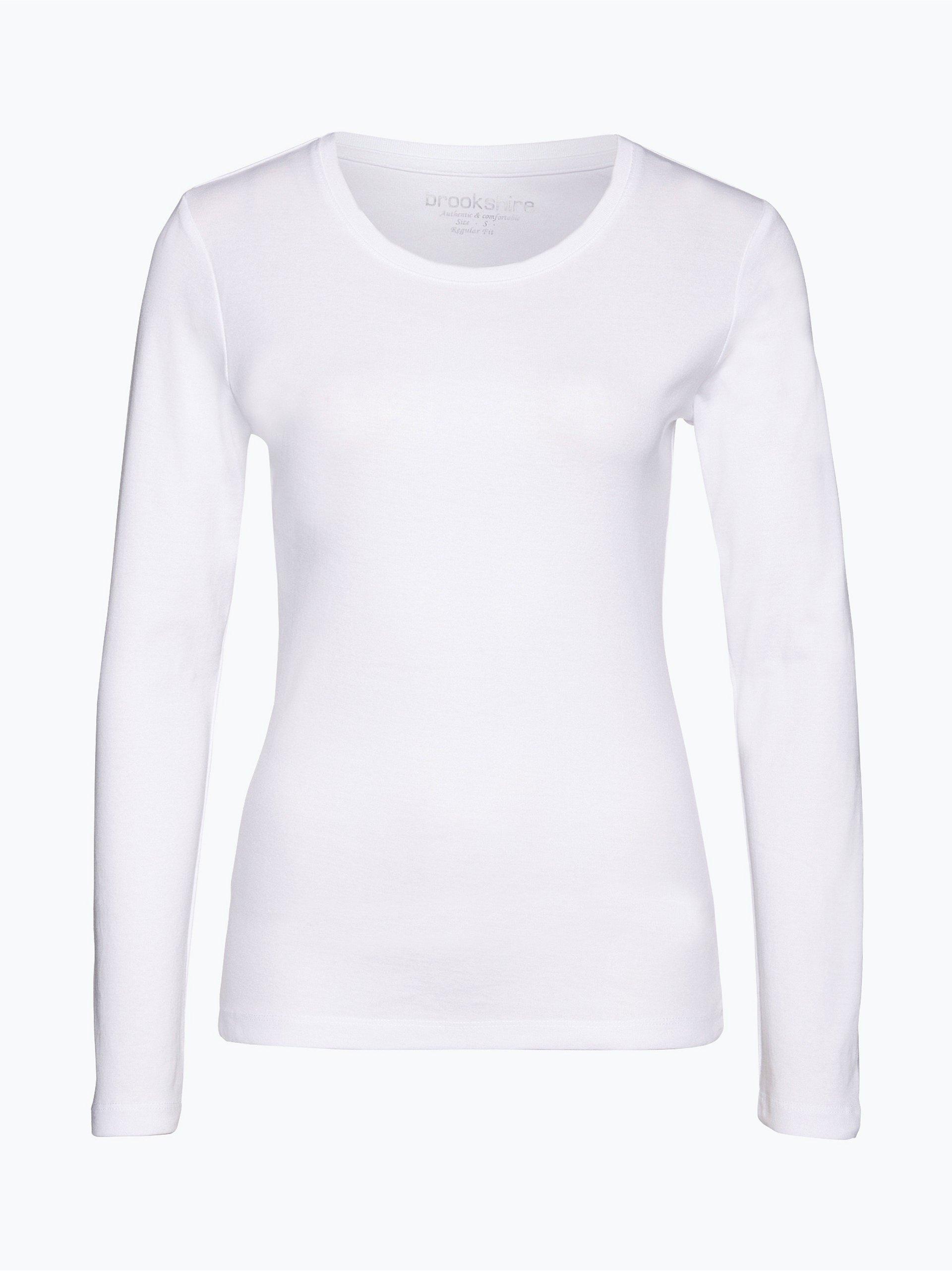 brookshire damen langarmshirt wei uni online kaufen. Black Bedroom Furniture Sets. Home Design Ideas