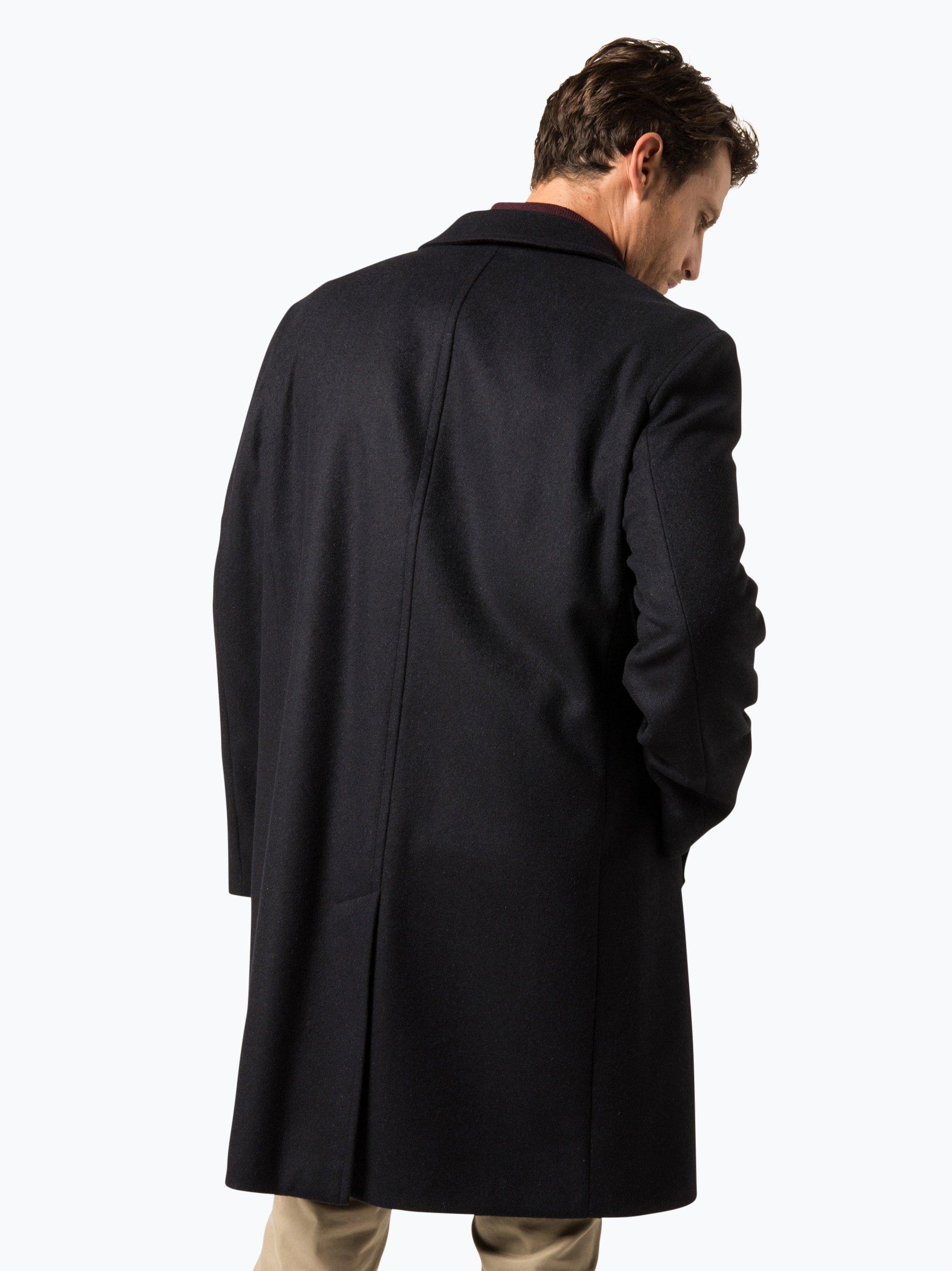 bugatti herren mantel mit cashmere anteil anthrazit uni. Black Bedroom Furniture Sets. Home Design Ideas