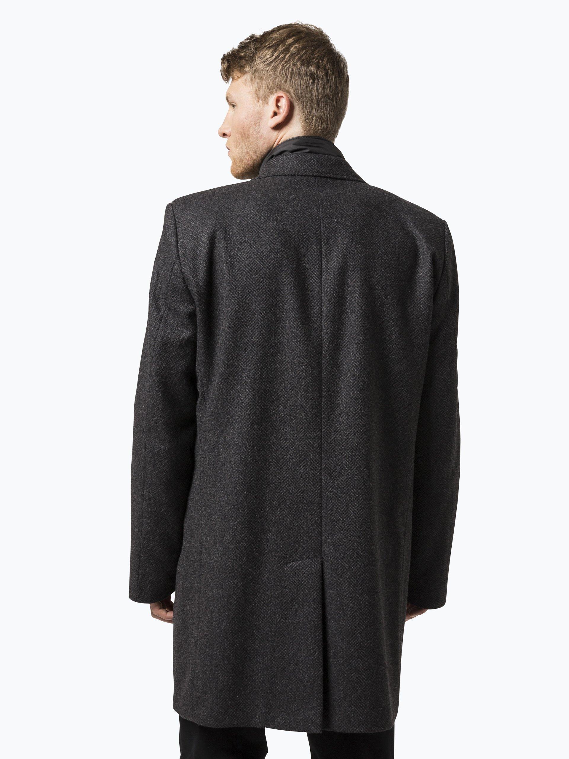 bugatti herren mantel anthrazit uni online kaufen peek. Black Bedroom Furniture Sets. Home Design Ideas