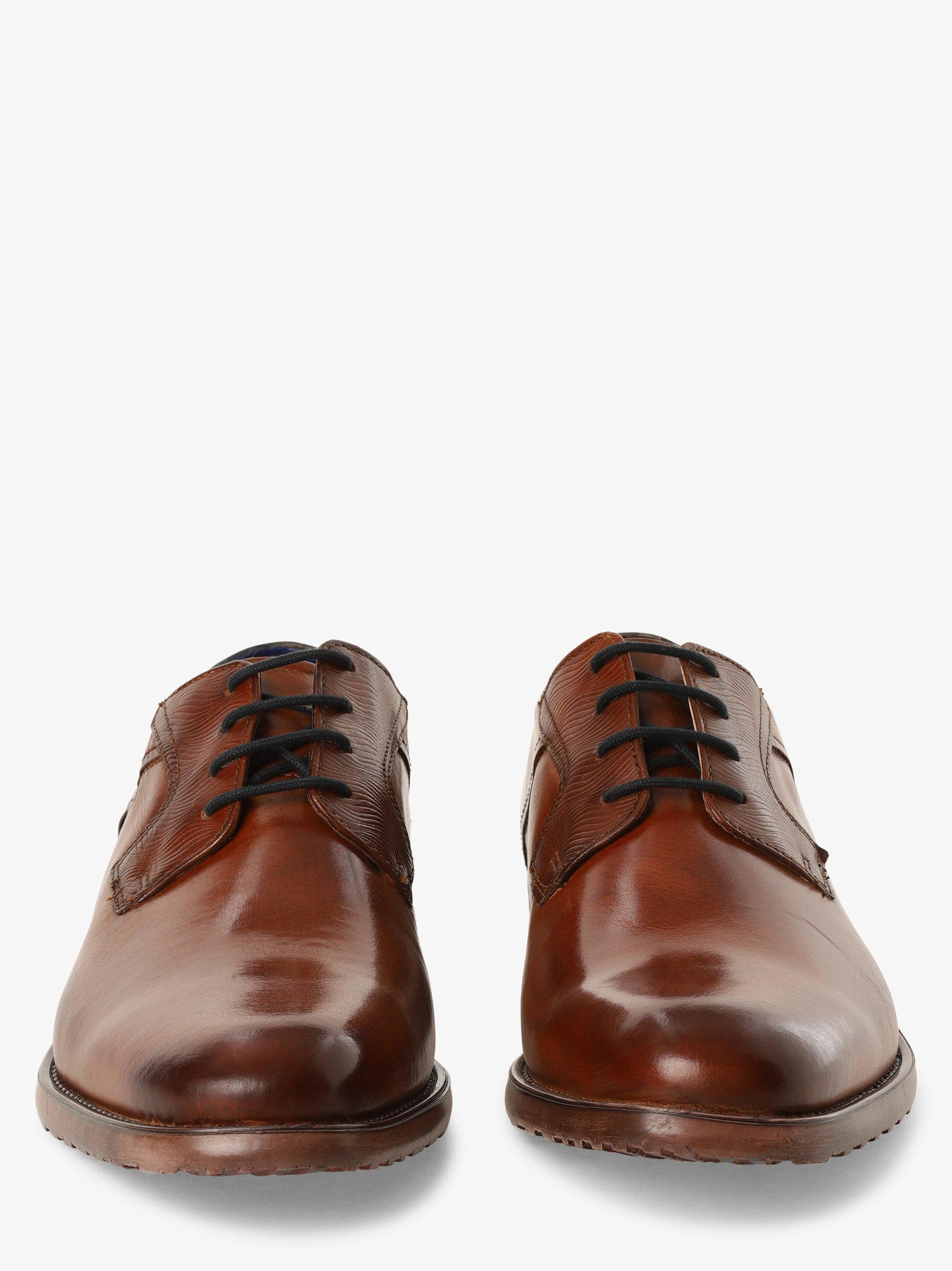 Bugatti Męskie buty sznurowane ze skóry