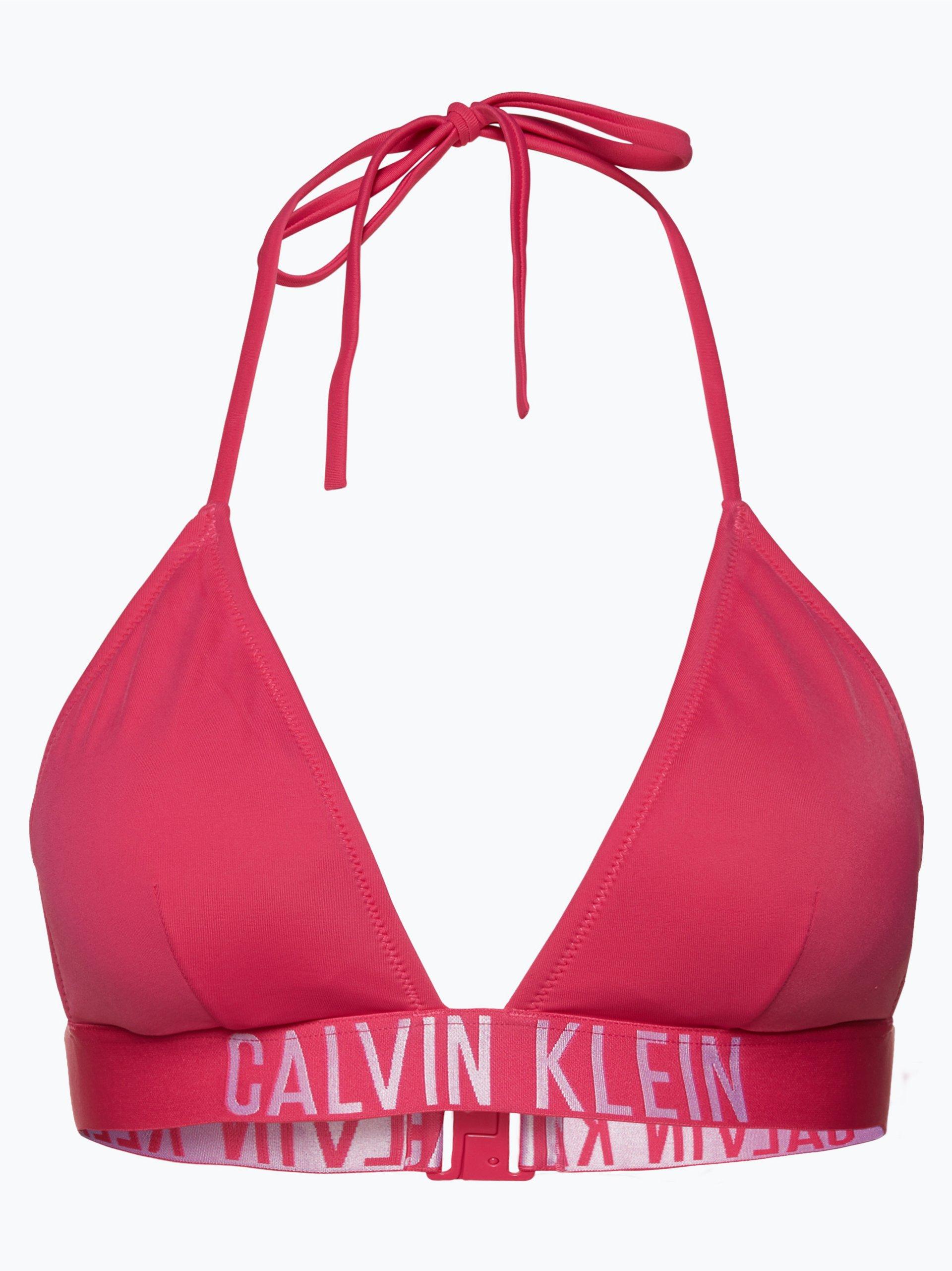 calvin klein damen bikini triangle rp fuchsia uni online. Black Bedroom Furniture Sets. Home Design Ideas