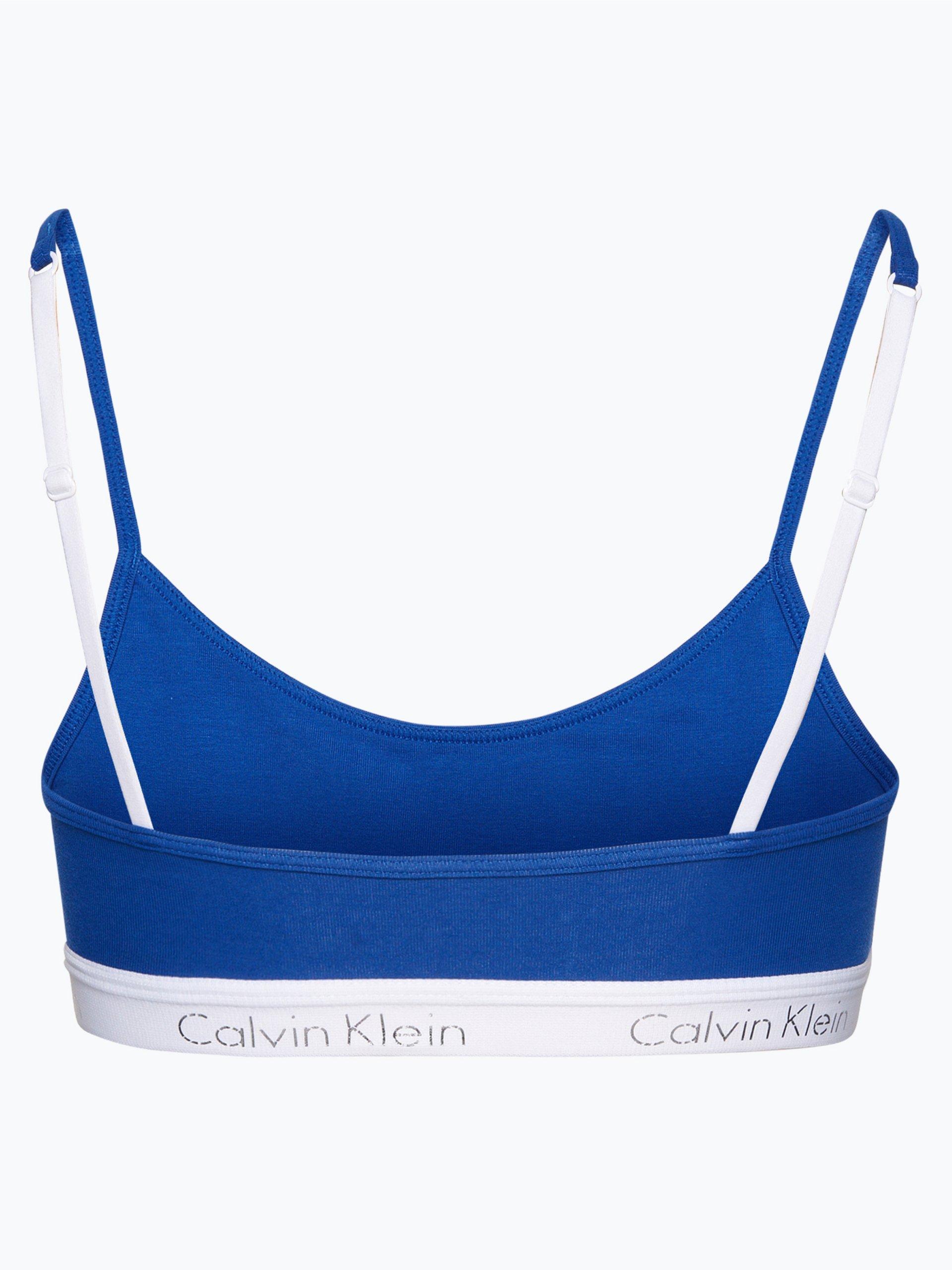 calvin klein damen bustier blau uni online kaufen. Black Bedroom Furniture Sets. Home Design Ideas