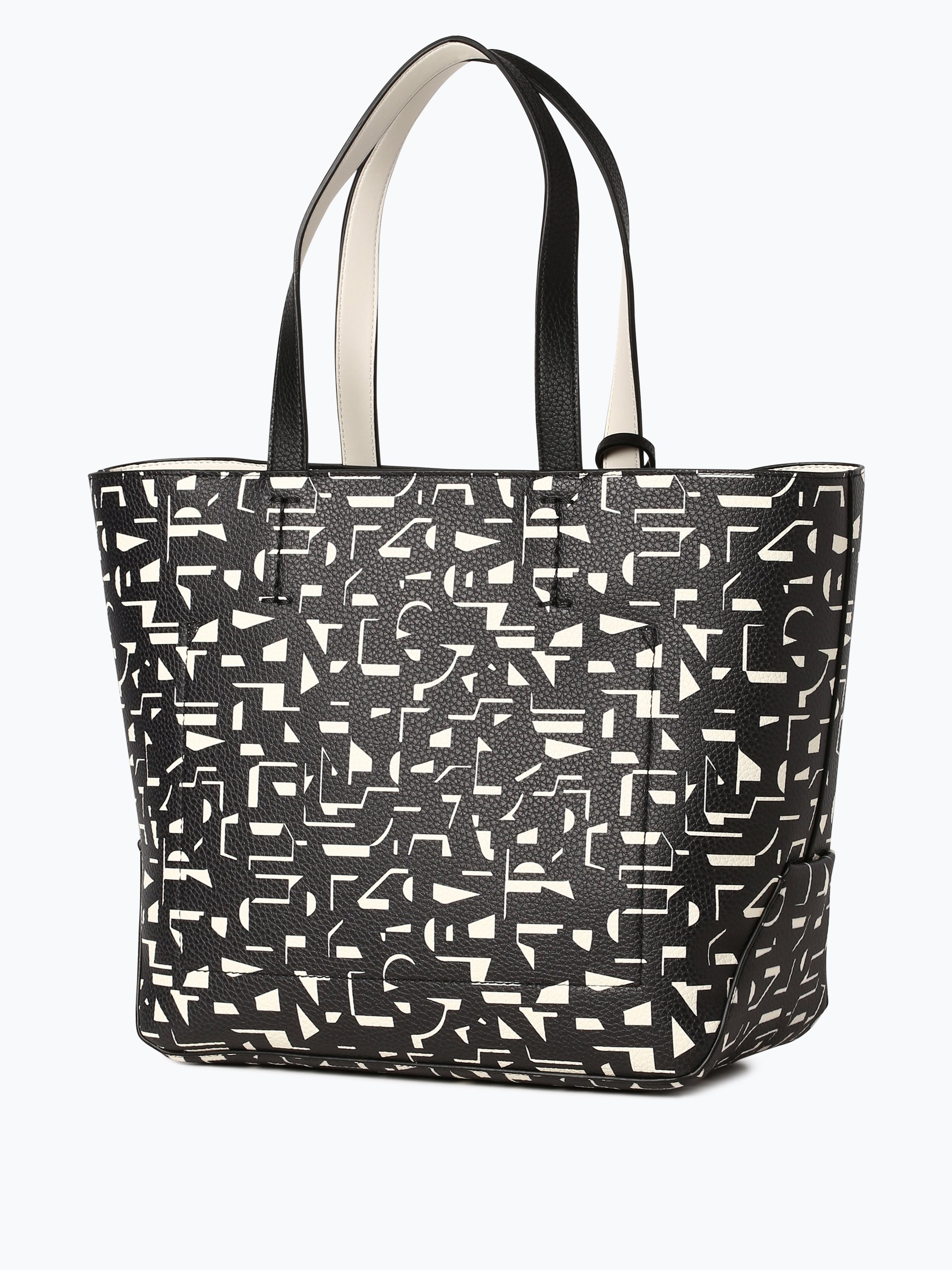 calvin klein damen handtasche schwarz gemustert online. Black Bedroom Furniture Sets. Home Design Ideas