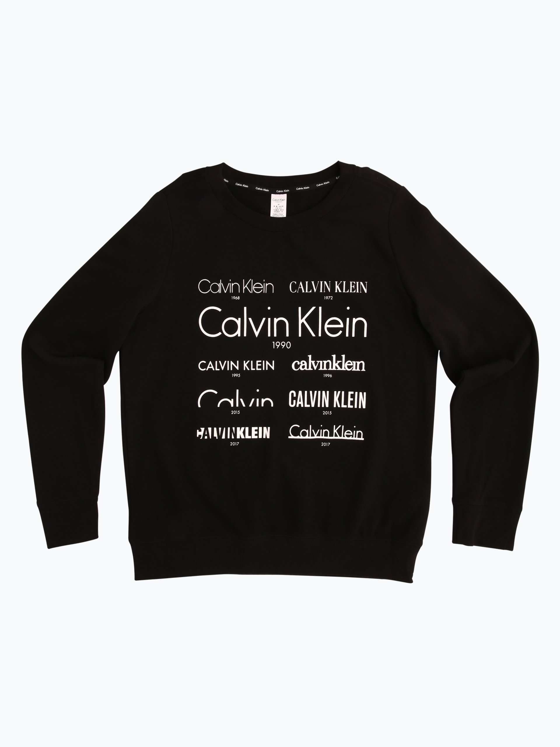 calvin klein damen pyjama shirt schwarz uni online kaufen. Black Bedroom Furniture Sets. Home Design Ideas