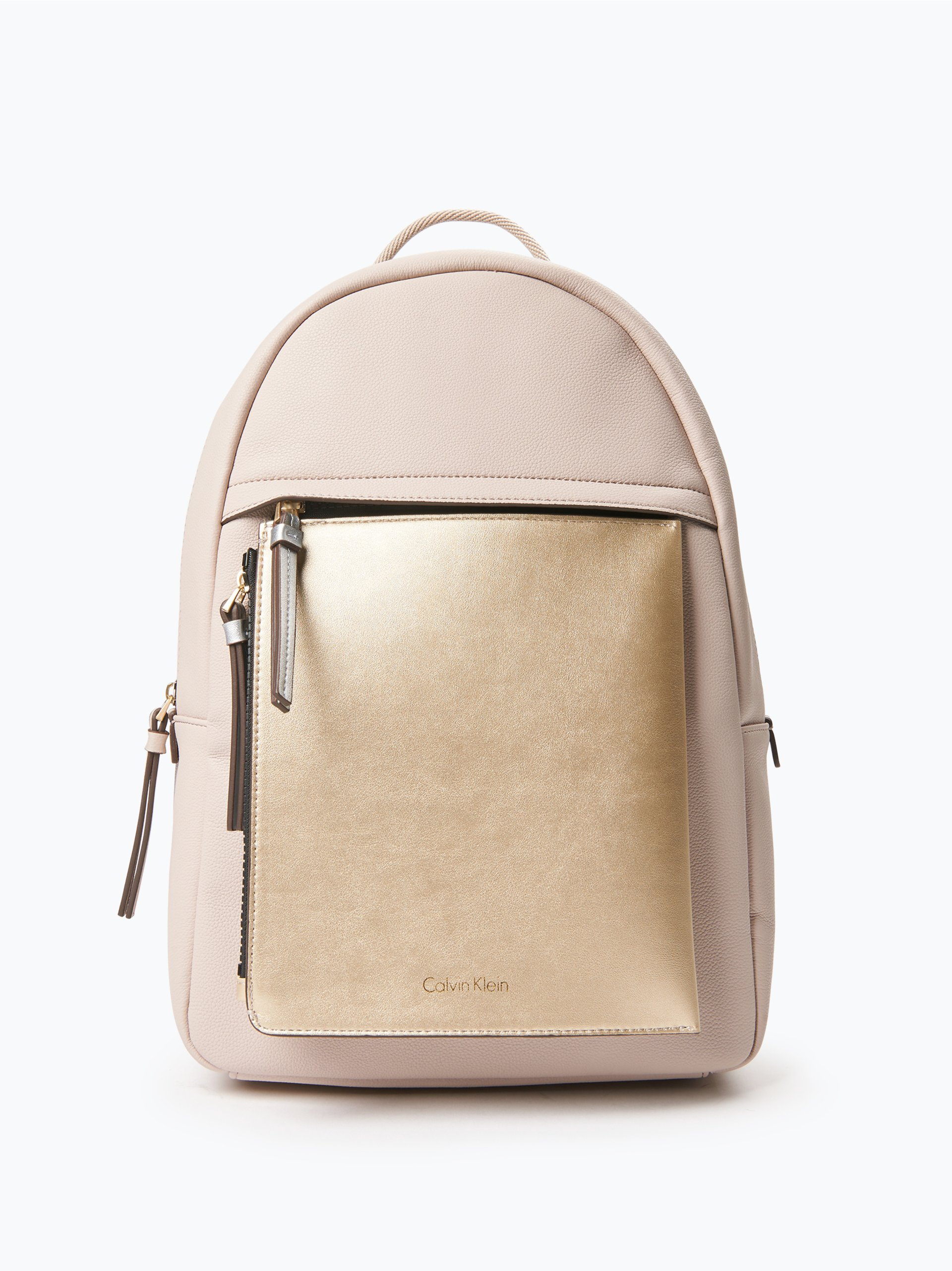 calvin klein damen rucksack in leder optik beige uni online kaufen peek und cloppenburg de. Black Bedroom Furniture Sets. Home Design Ideas