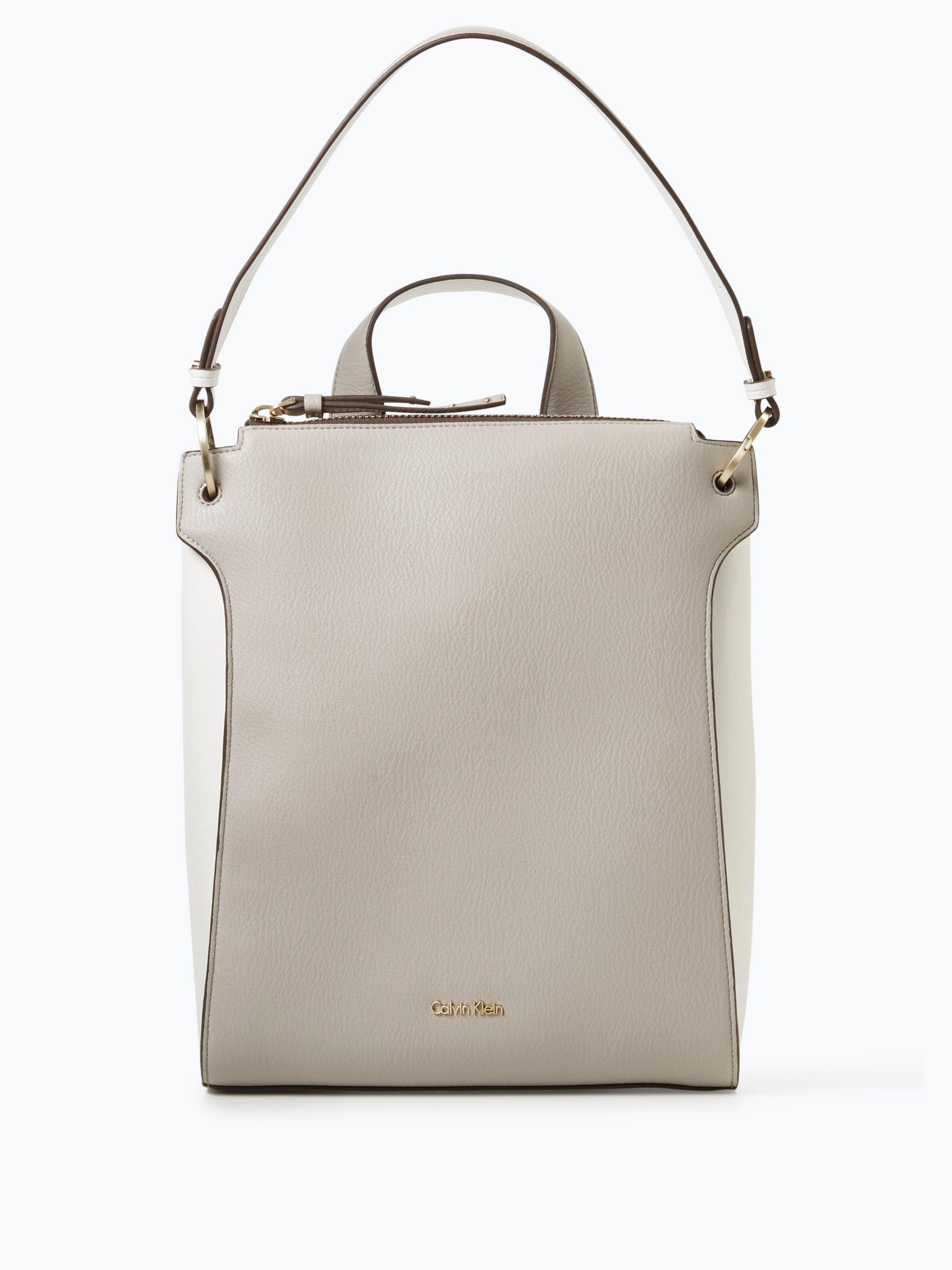 calvin klein damen rucksack in leder optik beige uni. Black Bedroom Furniture Sets. Home Design Ideas