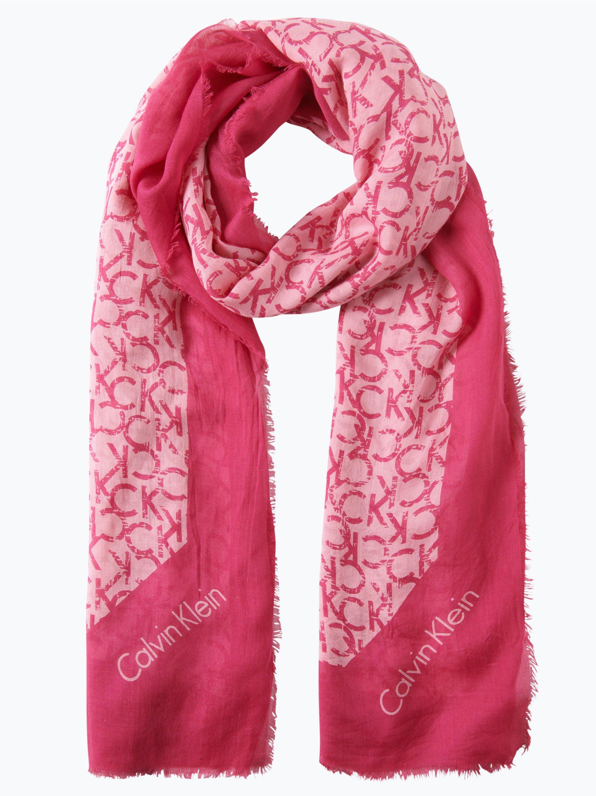 Calvin klein damen schal rosa gemustert online kaufen for Schal binden damen