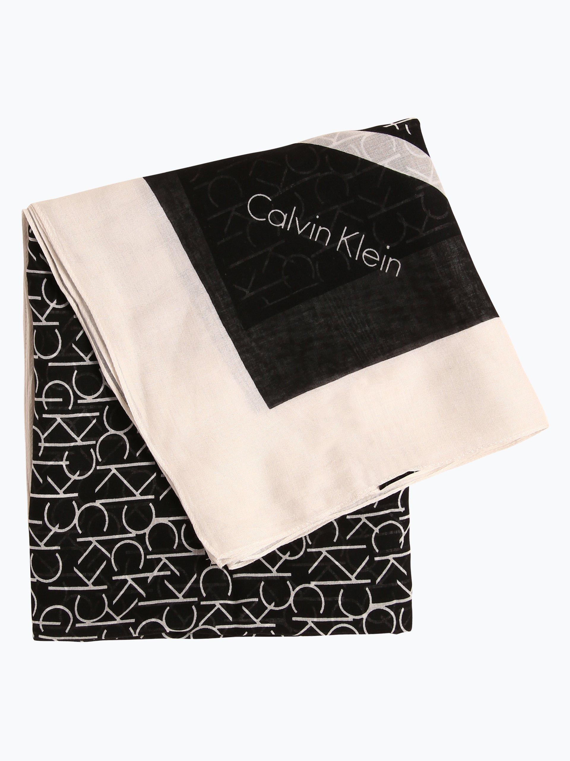 calvin klein damen schal schwarz gemustert online kaufen. Black Bedroom Furniture Sets. Home Design Ideas