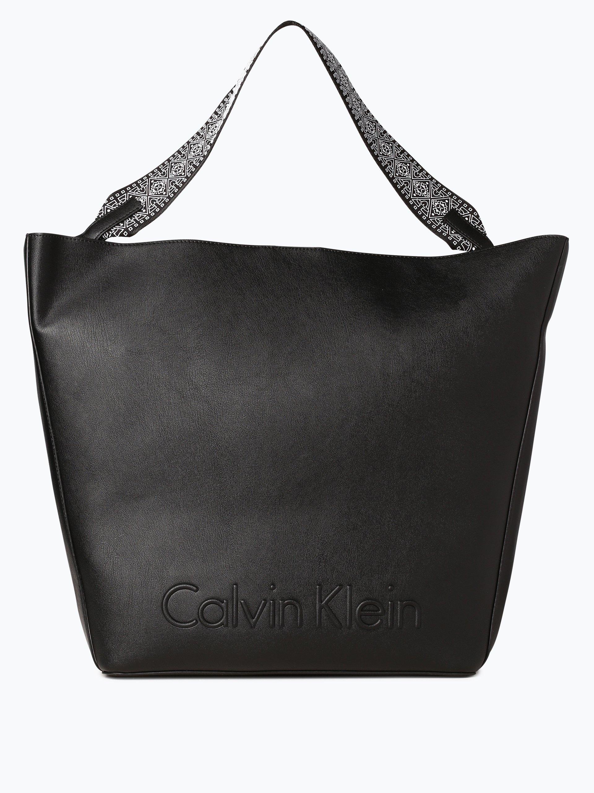 calvin klein damen shopper schwarz uni online kaufen. Black Bedroom Furniture Sets. Home Design Ideas
