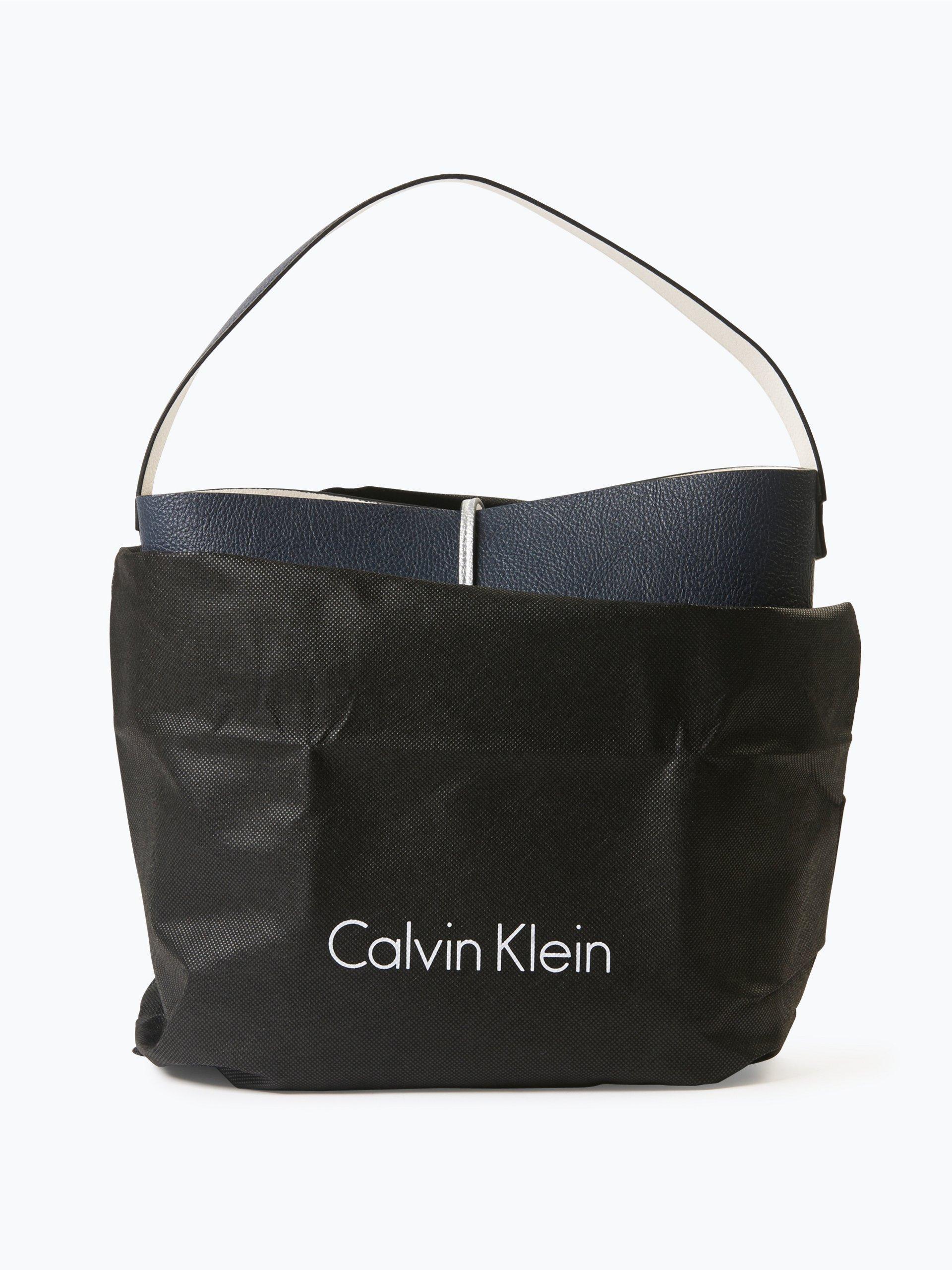 calvin klein damen wende handtasche mit clutch in leder. Black Bedroom Furniture Sets. Home Design Ideas