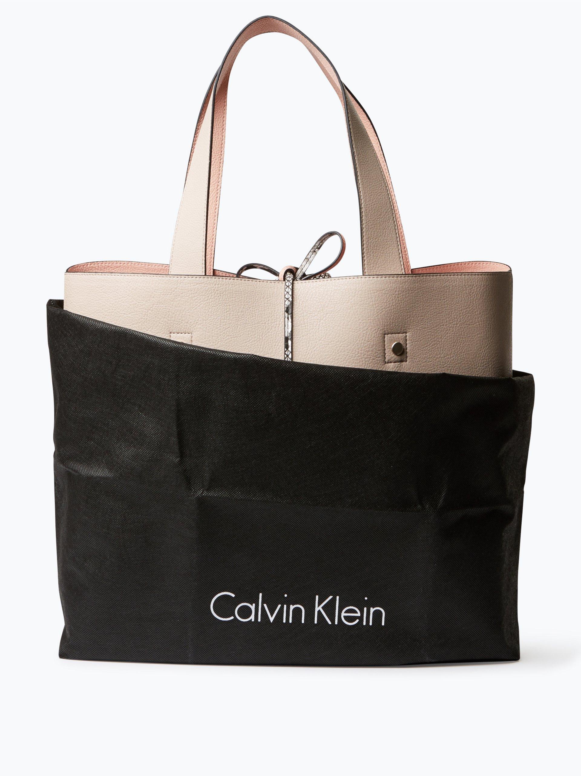 calvin klein damen wende shopper mit clutch in leder optik. Black Bedroom Furniture Sets. Home Design Ideas