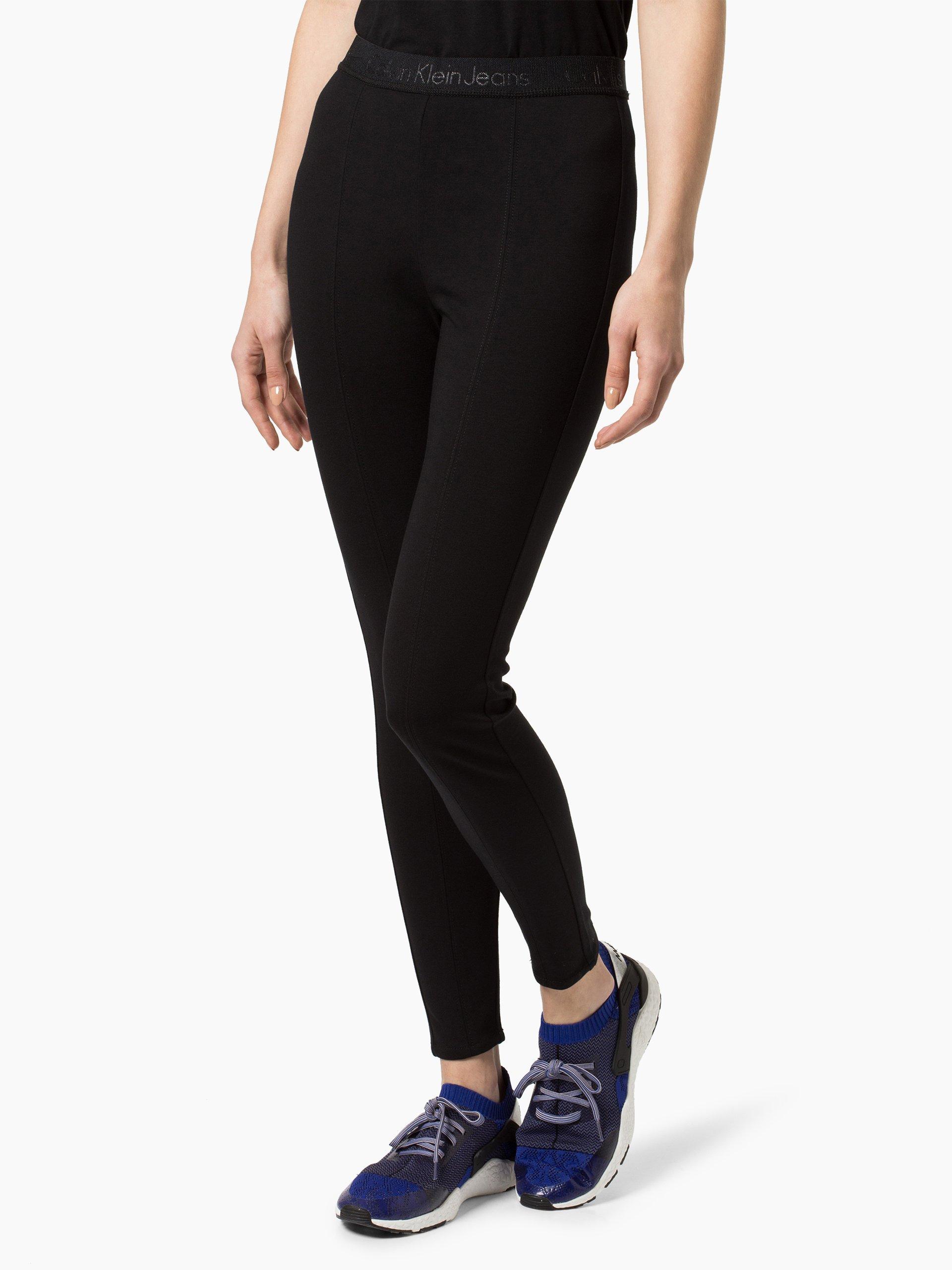 calvin klein jeans damen hose schwarz uni online kaufen. Black Bedroom Furniture Sets. Home Design Ideas