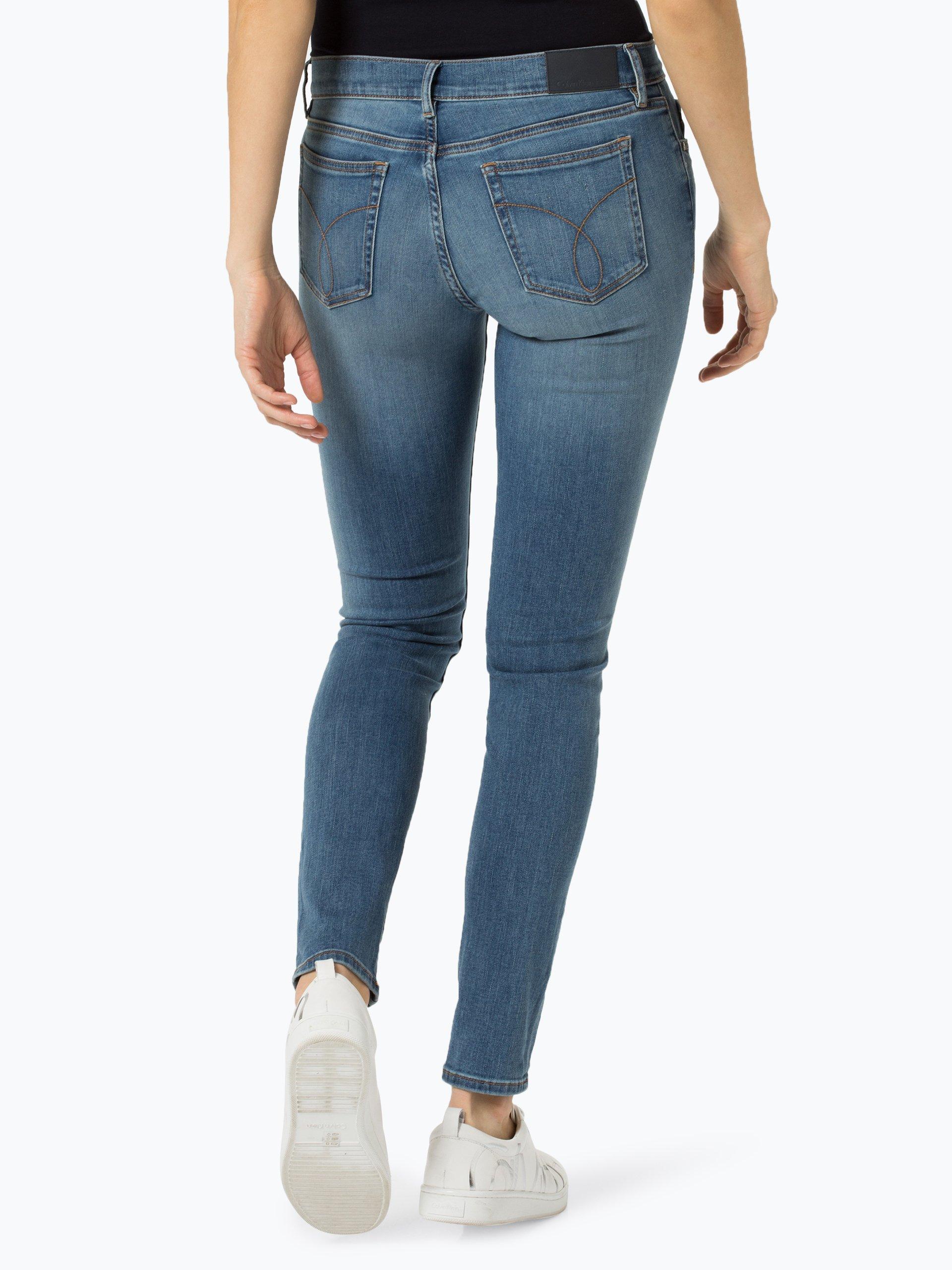 calvin klein jeans damen jeans blau uni online kaufen. Black Bedroom Furniture Sets. Home Design Ideas