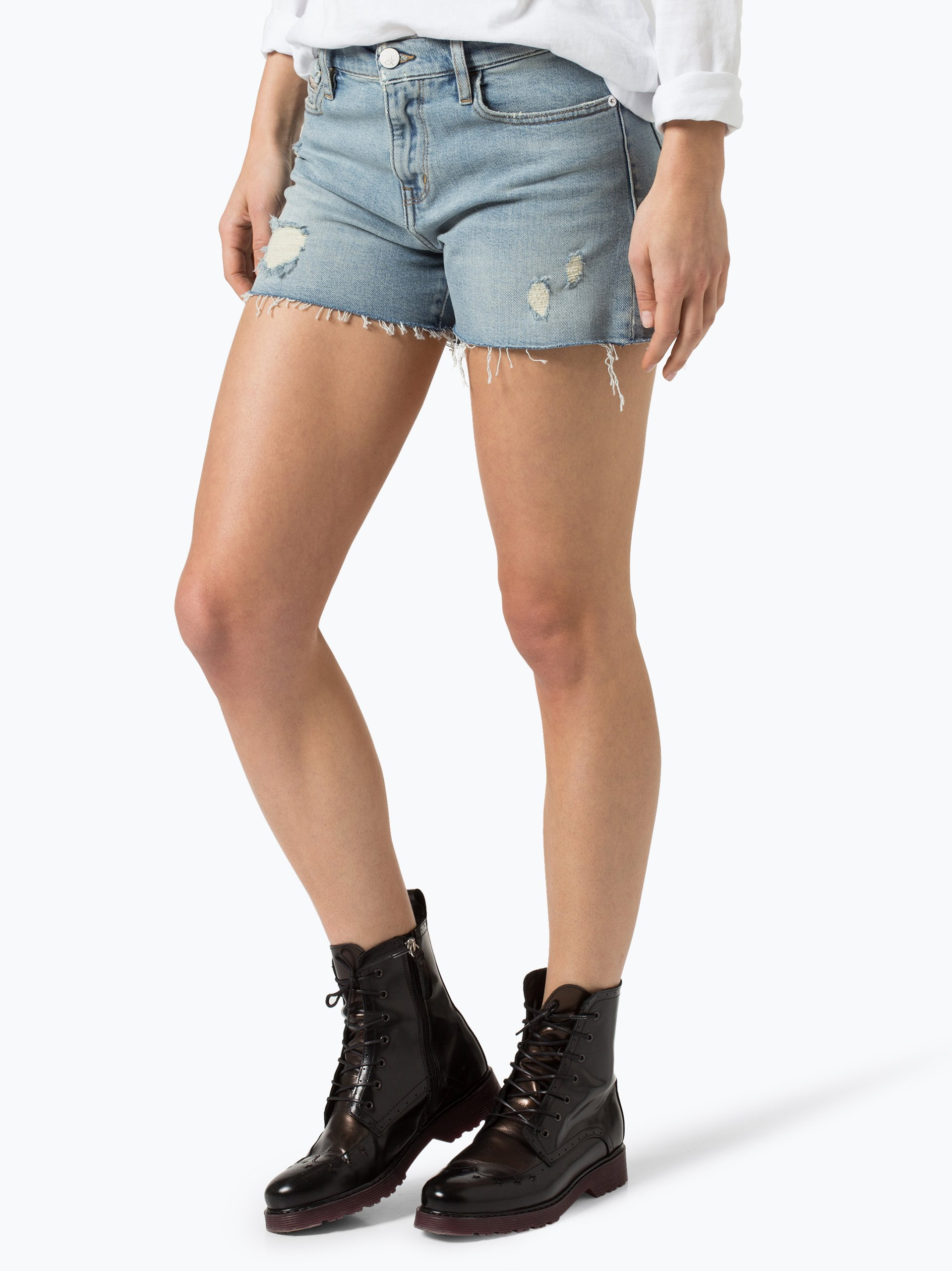 calvin klein jeans damen jeansshorts hellblau uni online. Black Bedroom Furniture Sets. Home Design Ideas