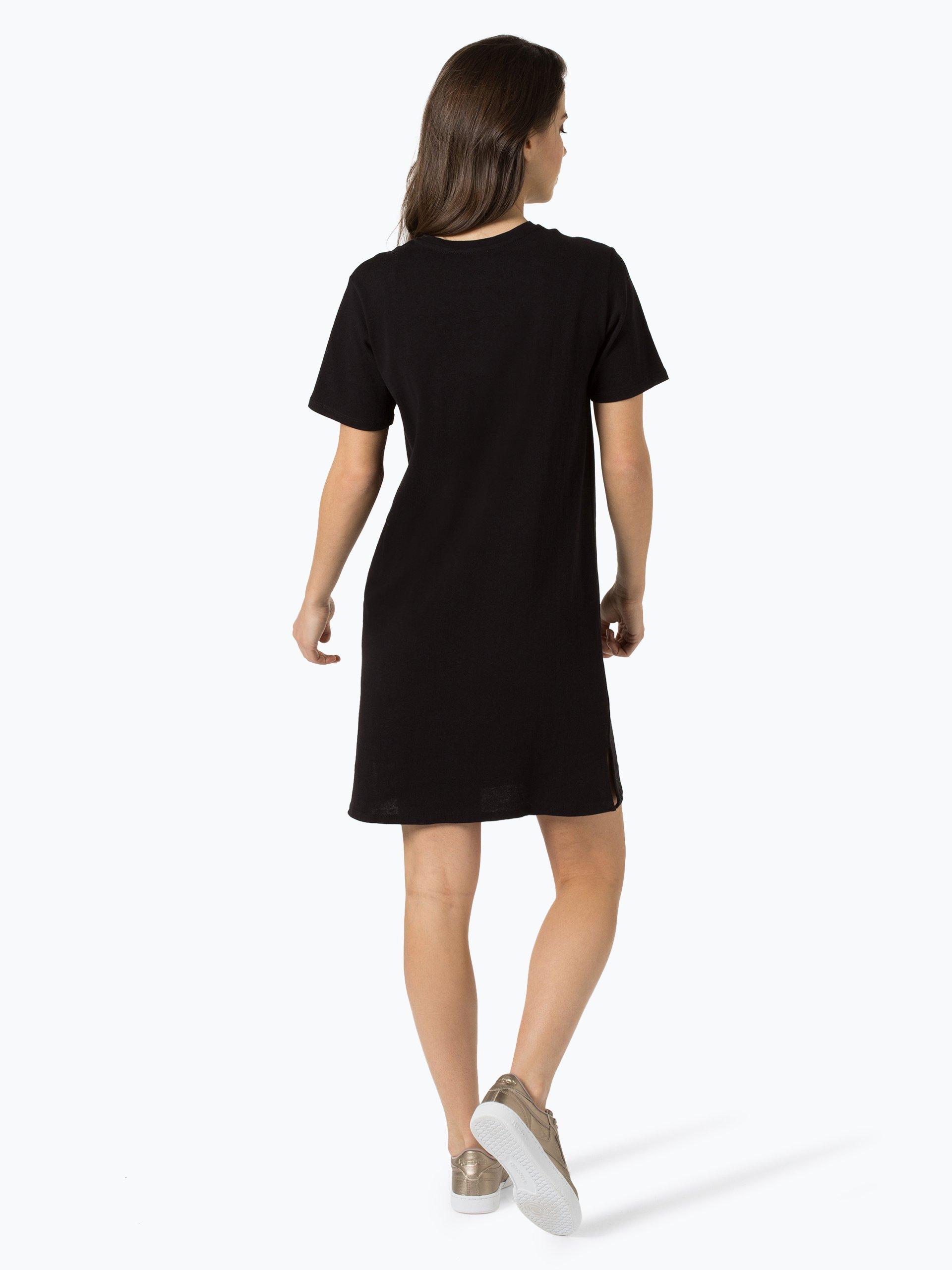 calvin klein jeans damen kleid schwarz gemustert online. Black Bedroom Furniture Sets. Home Design Ideas