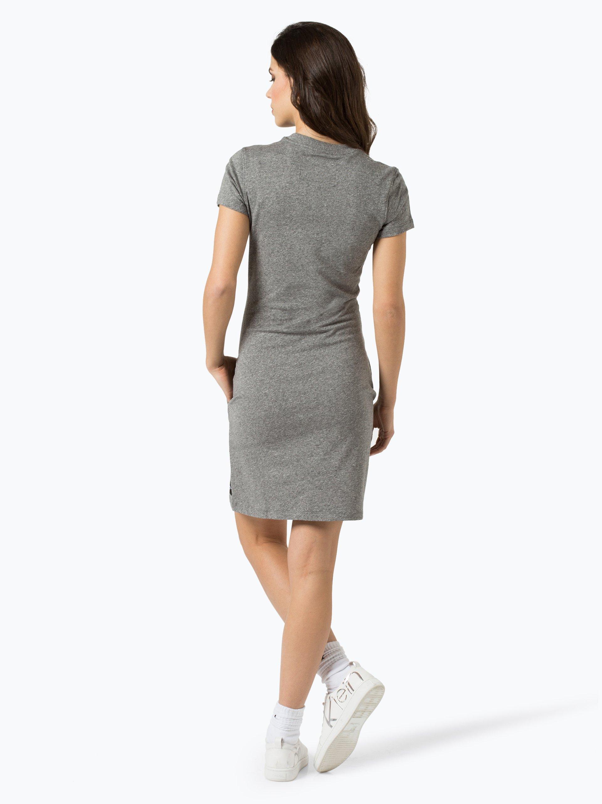 calvin klein jeans damen kleid grau uni online kaufen. Black Bedroom Furniture Sets. Home Design Ideas