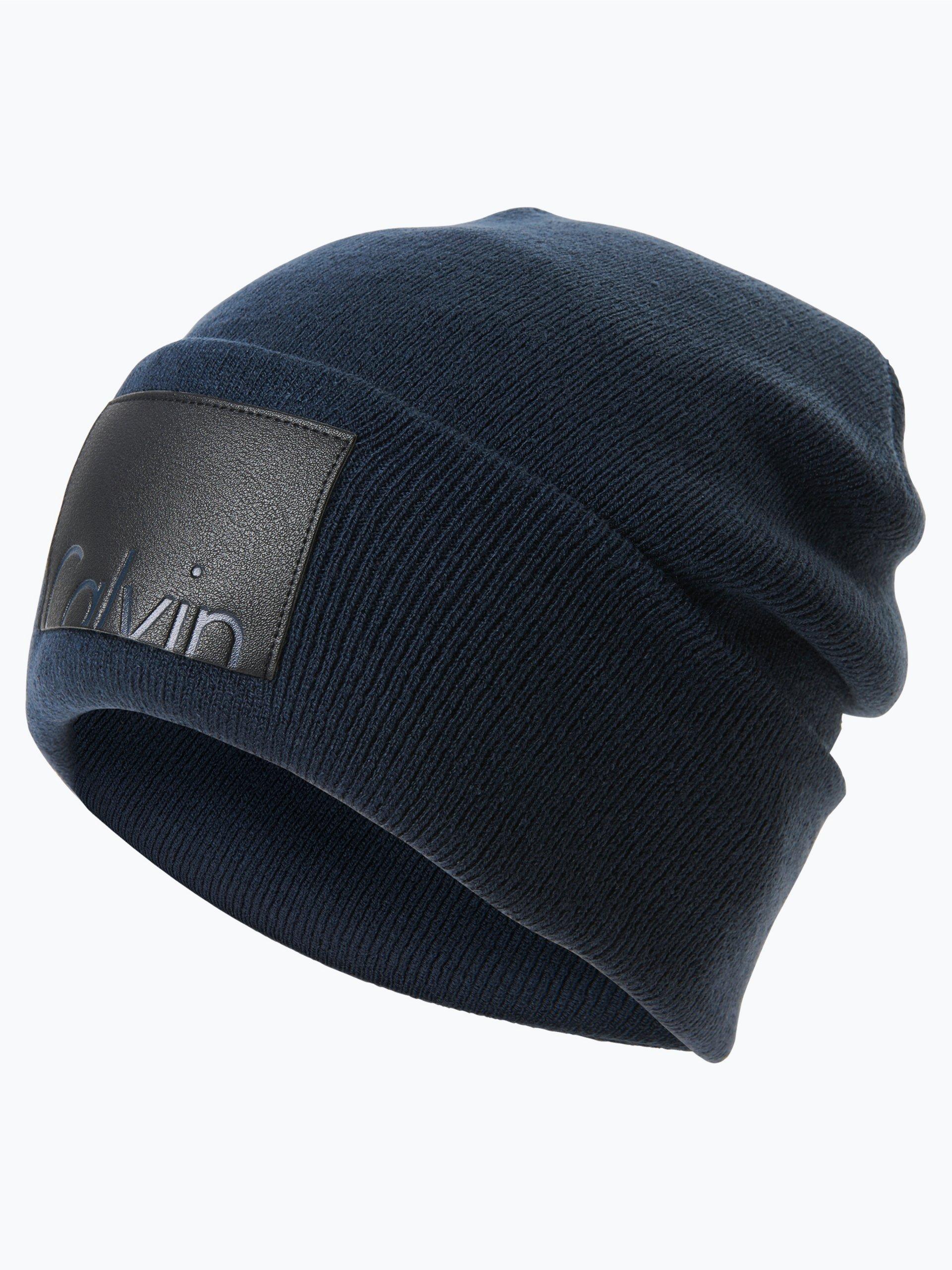 calvin klein jeans damen m tze marine uni online kaufen. Black Bedroom Furniture Sets. Home Design Ideas