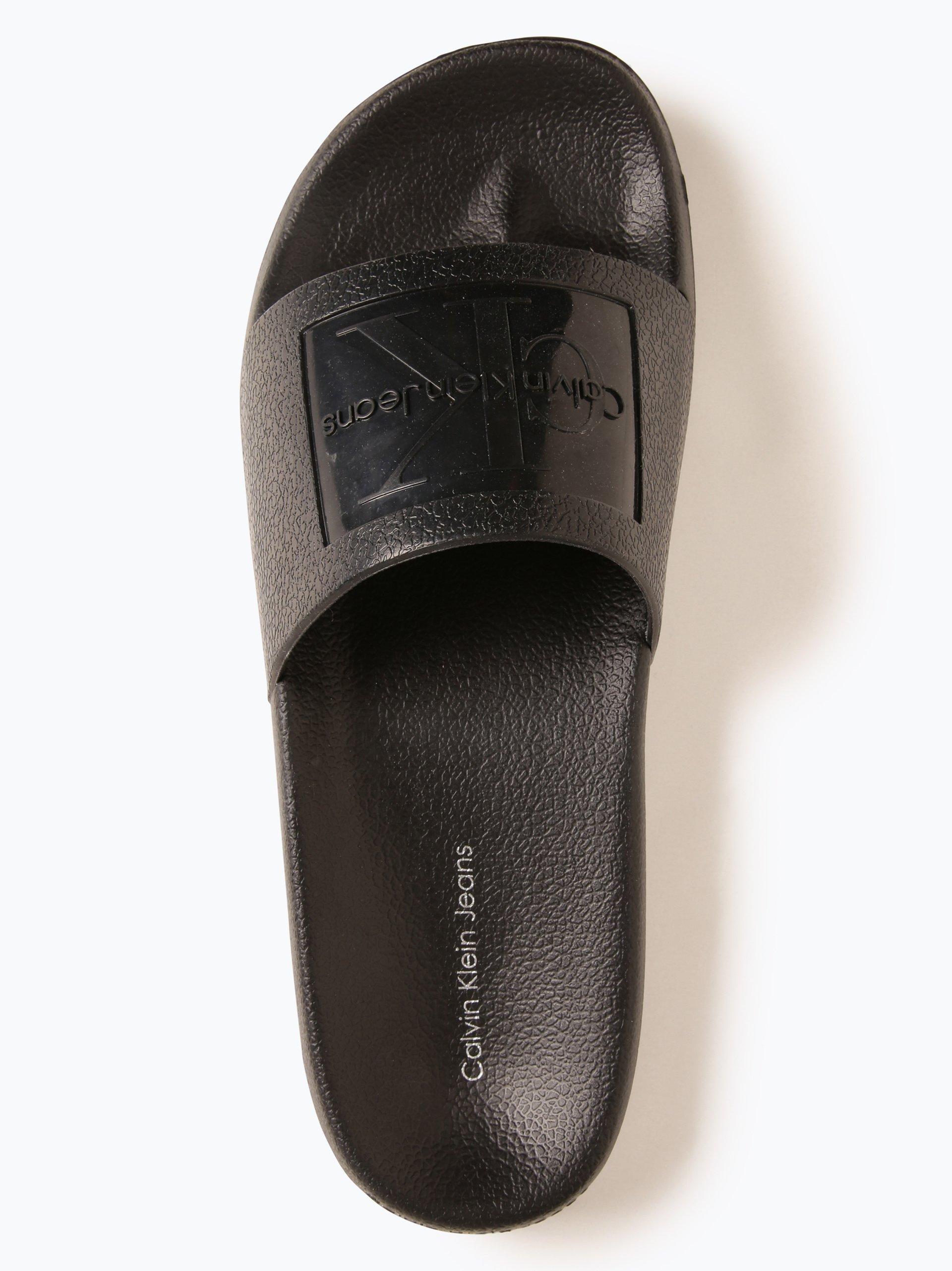 calvin klein jeans damen sandalen schwarz uni online. Black Bedroom Furniture Sets. Home Design Ideas