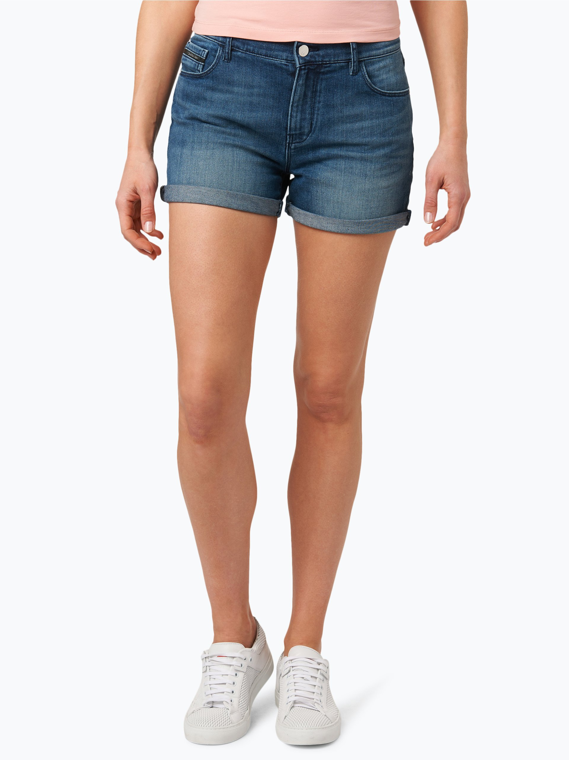 calvin klein jeans damen shorts blau uni online kaufen peek und cloppenburg de. Black Bedroom Furniture Sets. Home Design Ideas