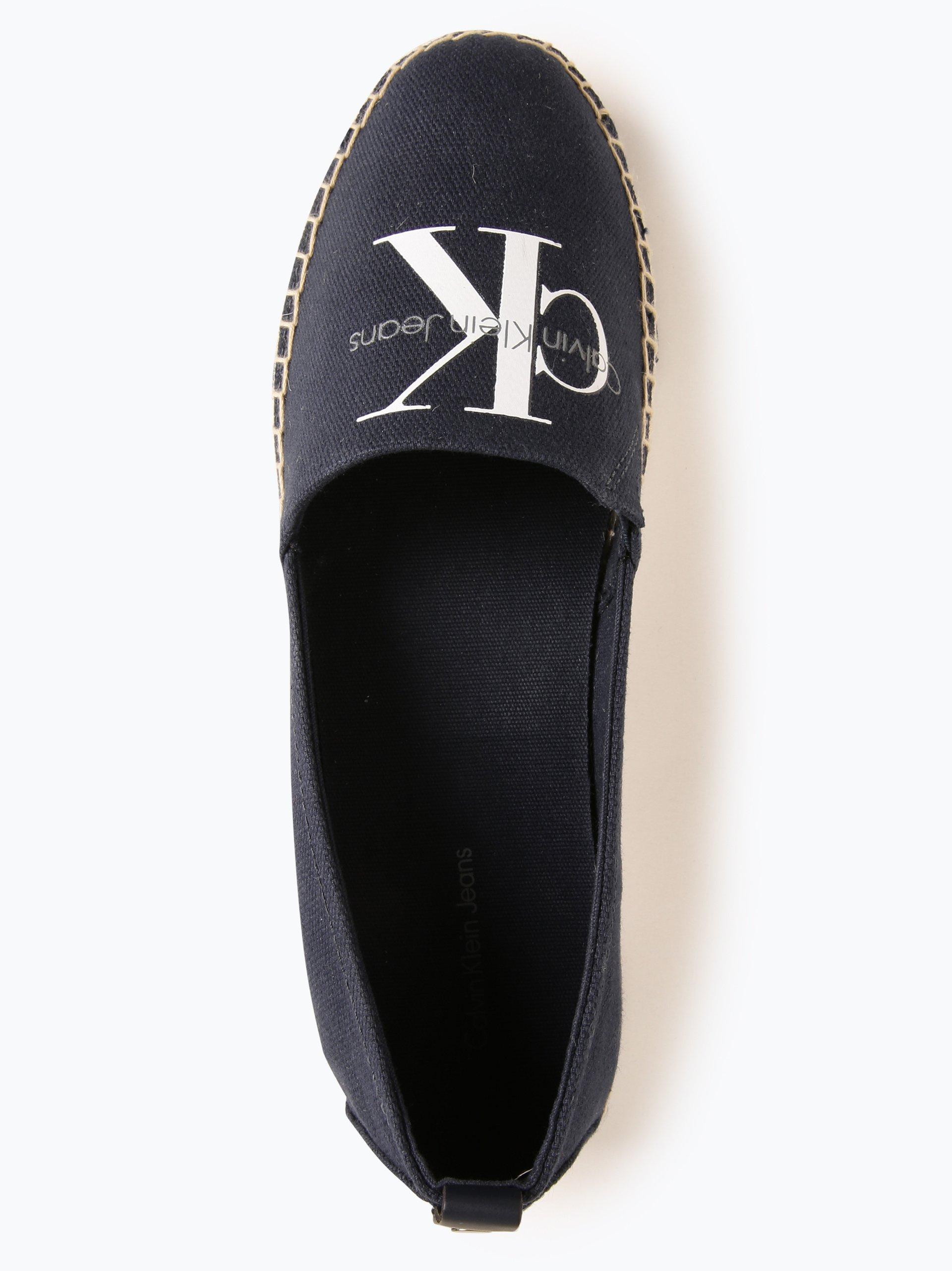 calvin klein jeans damen slipper genna marine gemustert. Black Bedroom Furniture Sets. Home Design Ideas