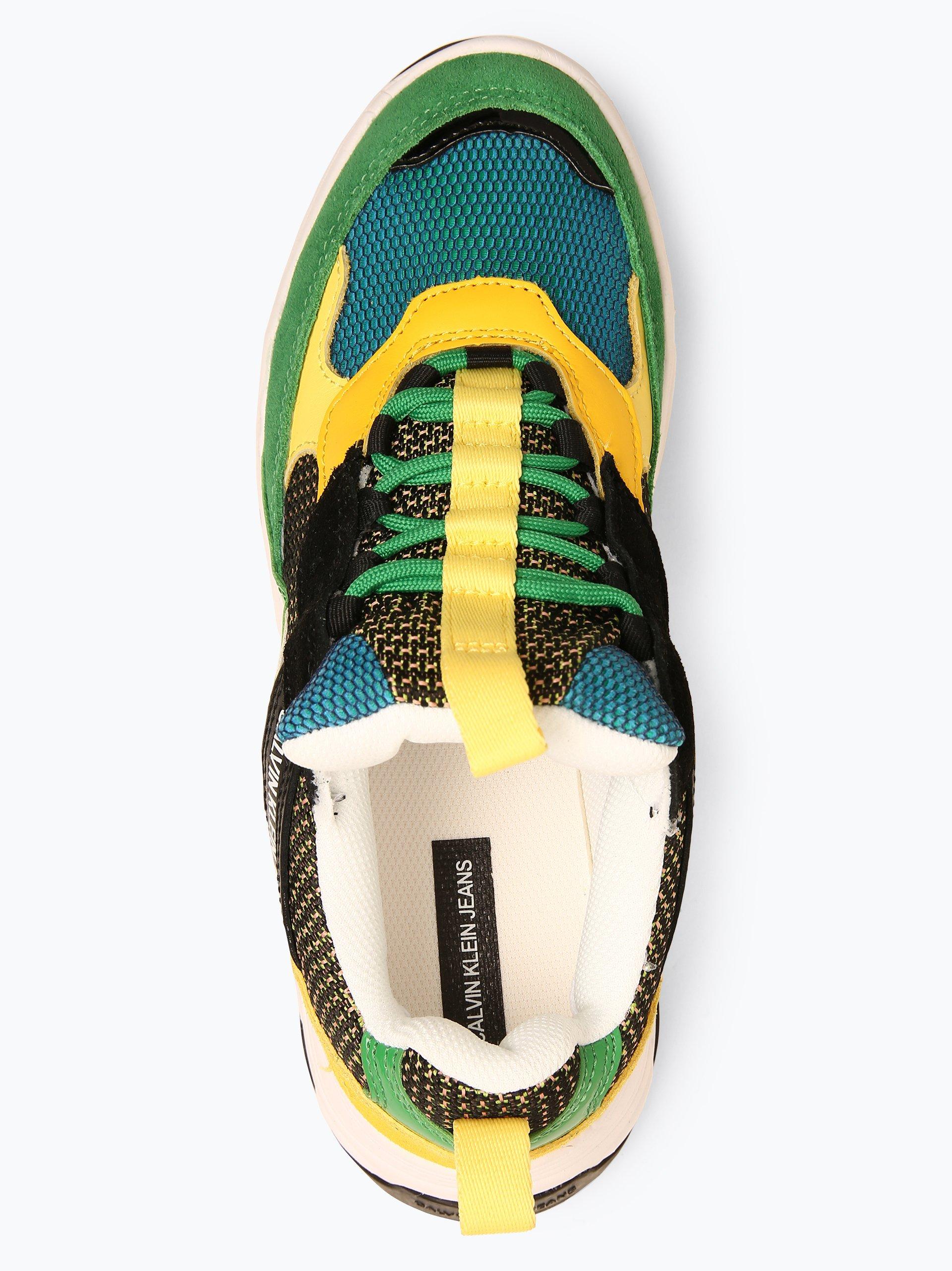 Calvin Klein Jeans Damen Sneaker mit Leder-Anteil