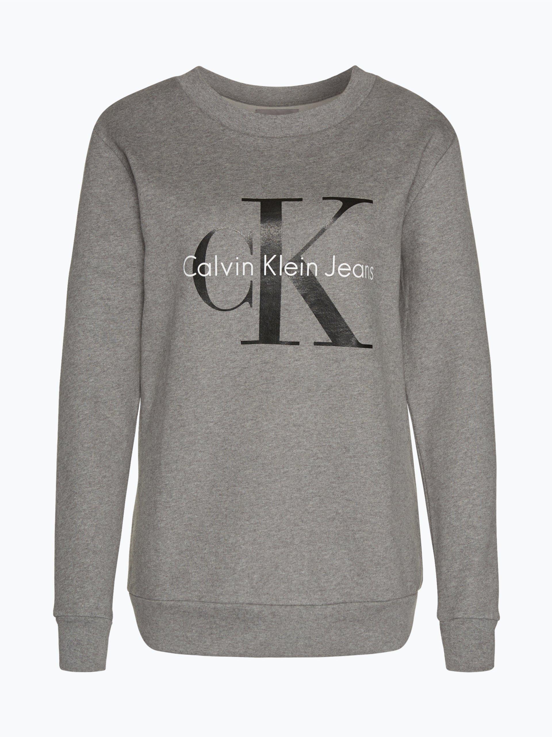 calvin klein jeans damen sweatshirt grau uni online kaufen peek und cloppenburg de. Black Bedroom Furniture Sets. Home Design Ideas