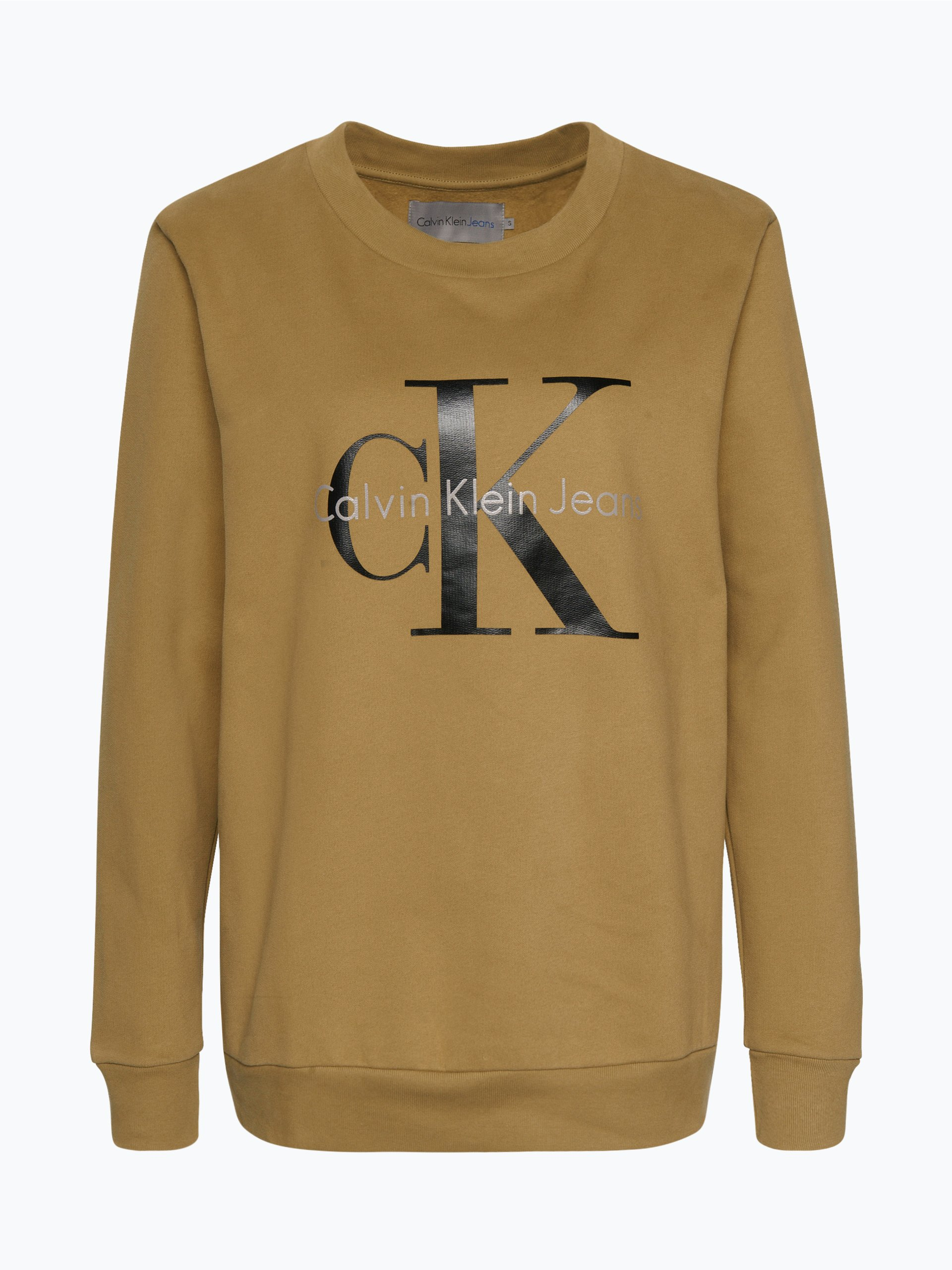 calvin klein jeans damen sweatshirt oliv uni online kaufen. Black Bedroom Furniture Sets. Home Design Ideas
