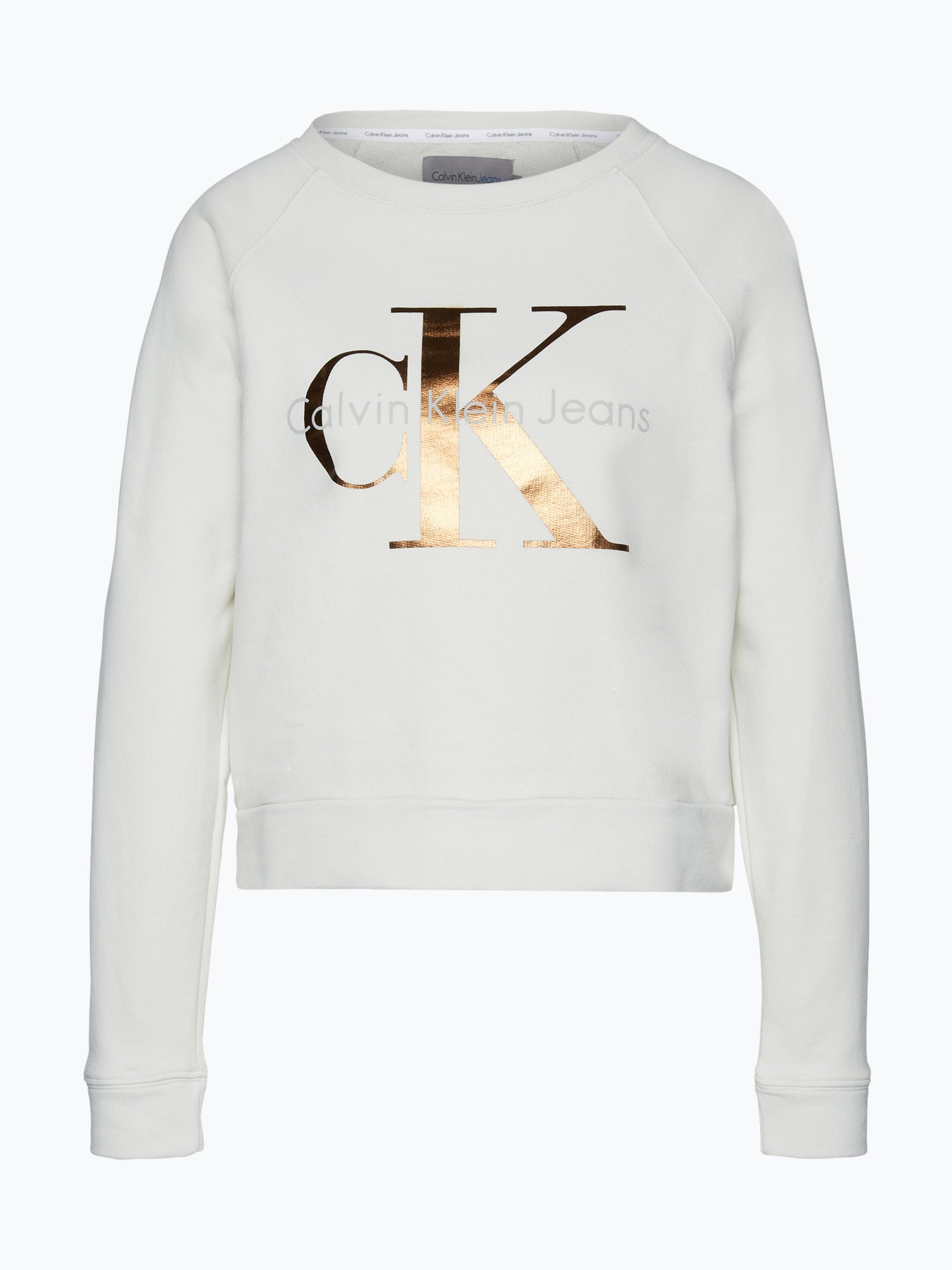 calvin klein jeans damen sweatshirt mehrfarbig uni online. Black Bedroom Furniture Sets. Home Design Ideas