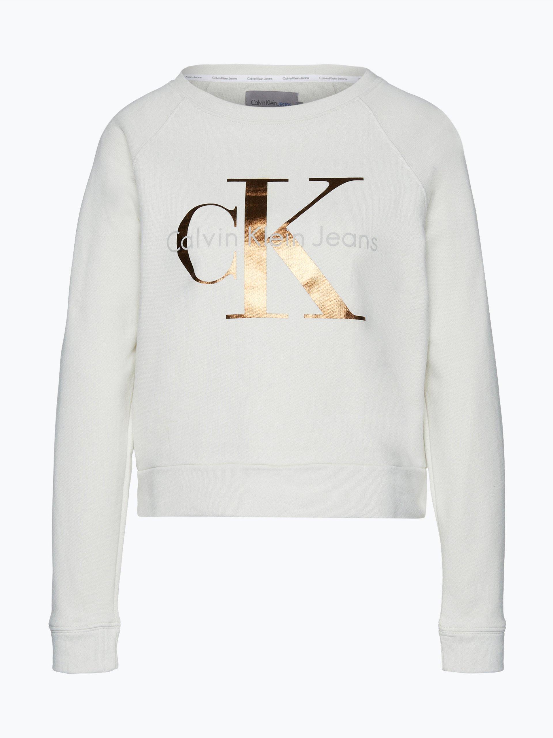 calvin klein jeans damen sweatshirt mehrfarbig uni online kaufen peek und cloppenburg de. Black Bedroom Furniture Sets. Home Design Ideas