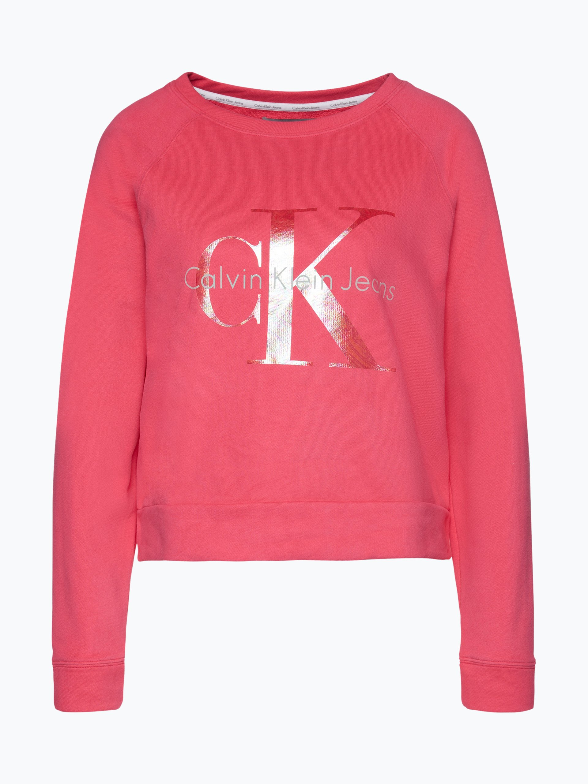 calvin klein jeans damen sweatshirt pink uni online kaufen vangraaf com. Black Bedroom Furniture Sets. Home Design Ideas