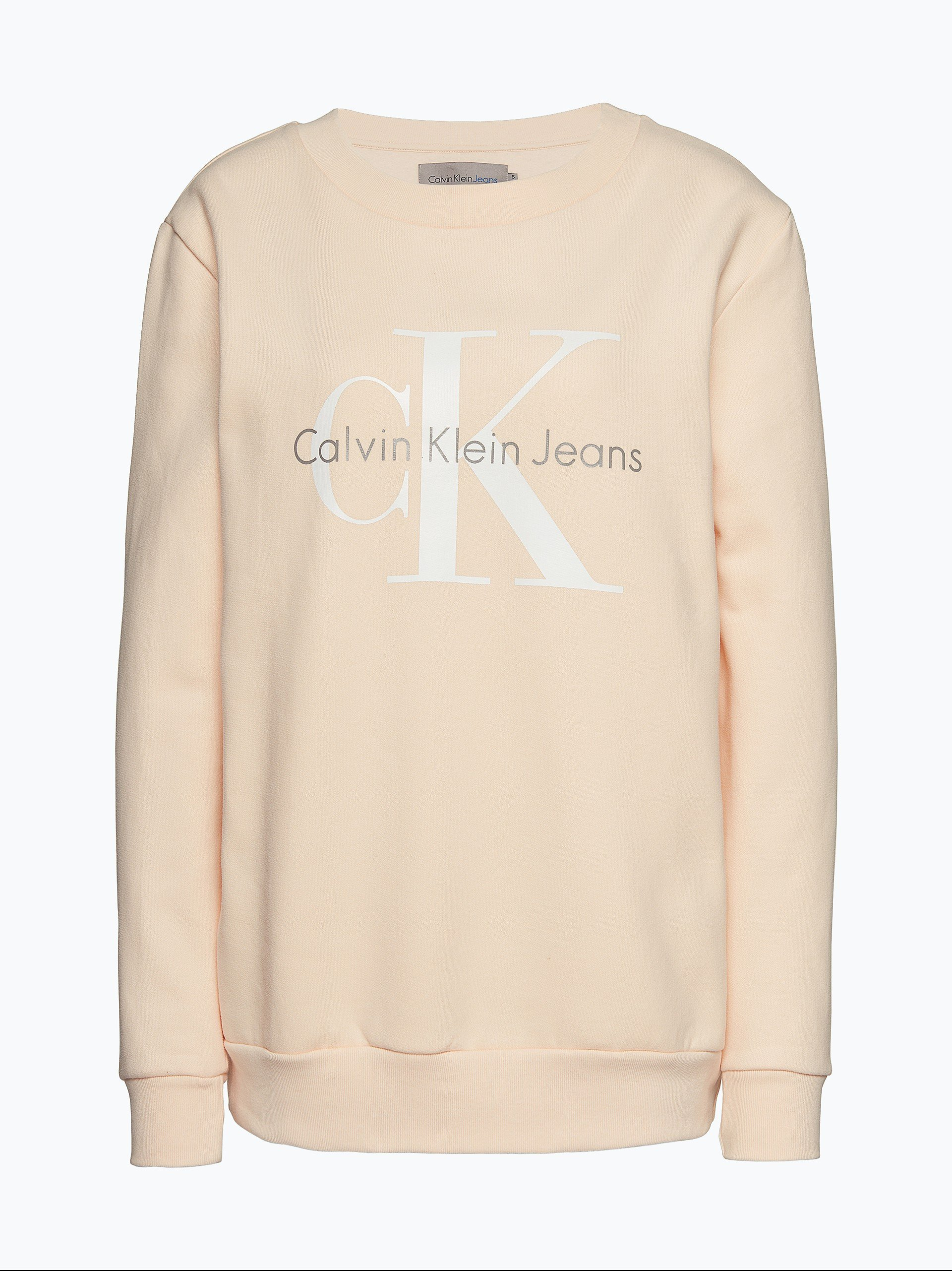 calvin klein jeans damen sweatshirt vanille uni online. Black Bedroom Furniture Sets. Home Design Ideas