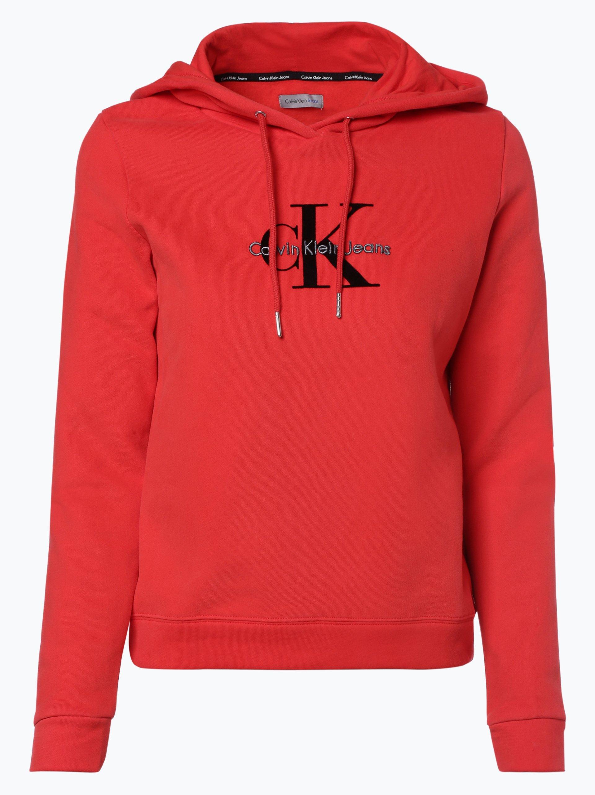 calvin klein jeans damen sweatshirt rot bedruckt online kaufen vangraaf com. Black Bedroom Furniture Sets. Home Design Ideas