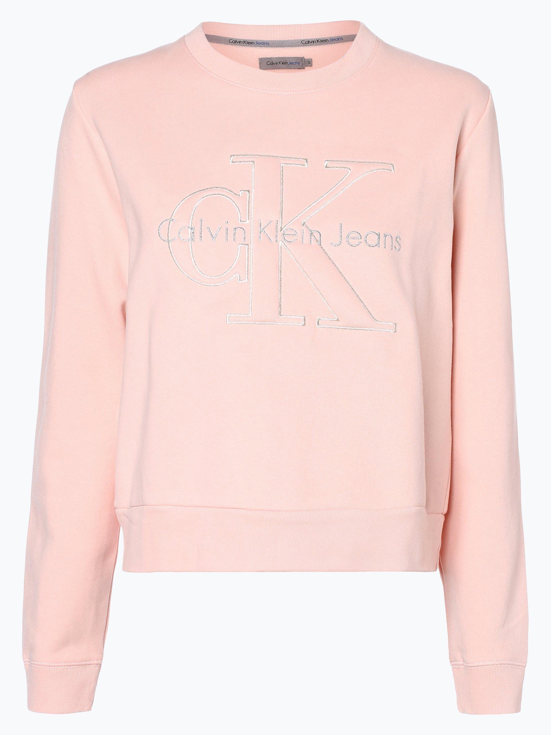 calvin klein jeans damen sweatshirt rosa bedruckt online kaufen vangraaf com. Black Bedroom Furniture Sets. Home Design Ideas