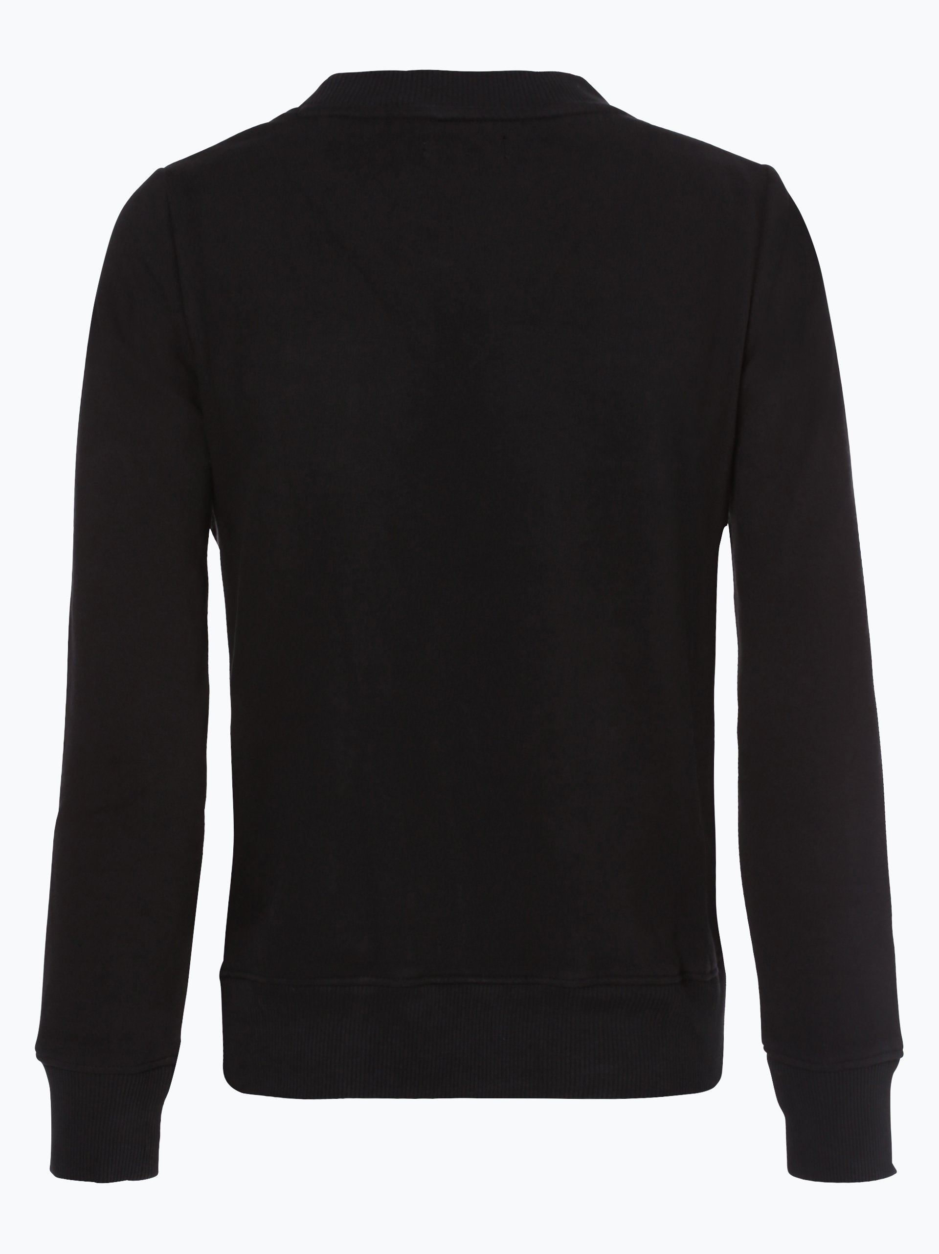 calvin klein jeans damen sweatshirt schwarz uni online. Black Bedroom Furniture Sets. Home Design Ideas