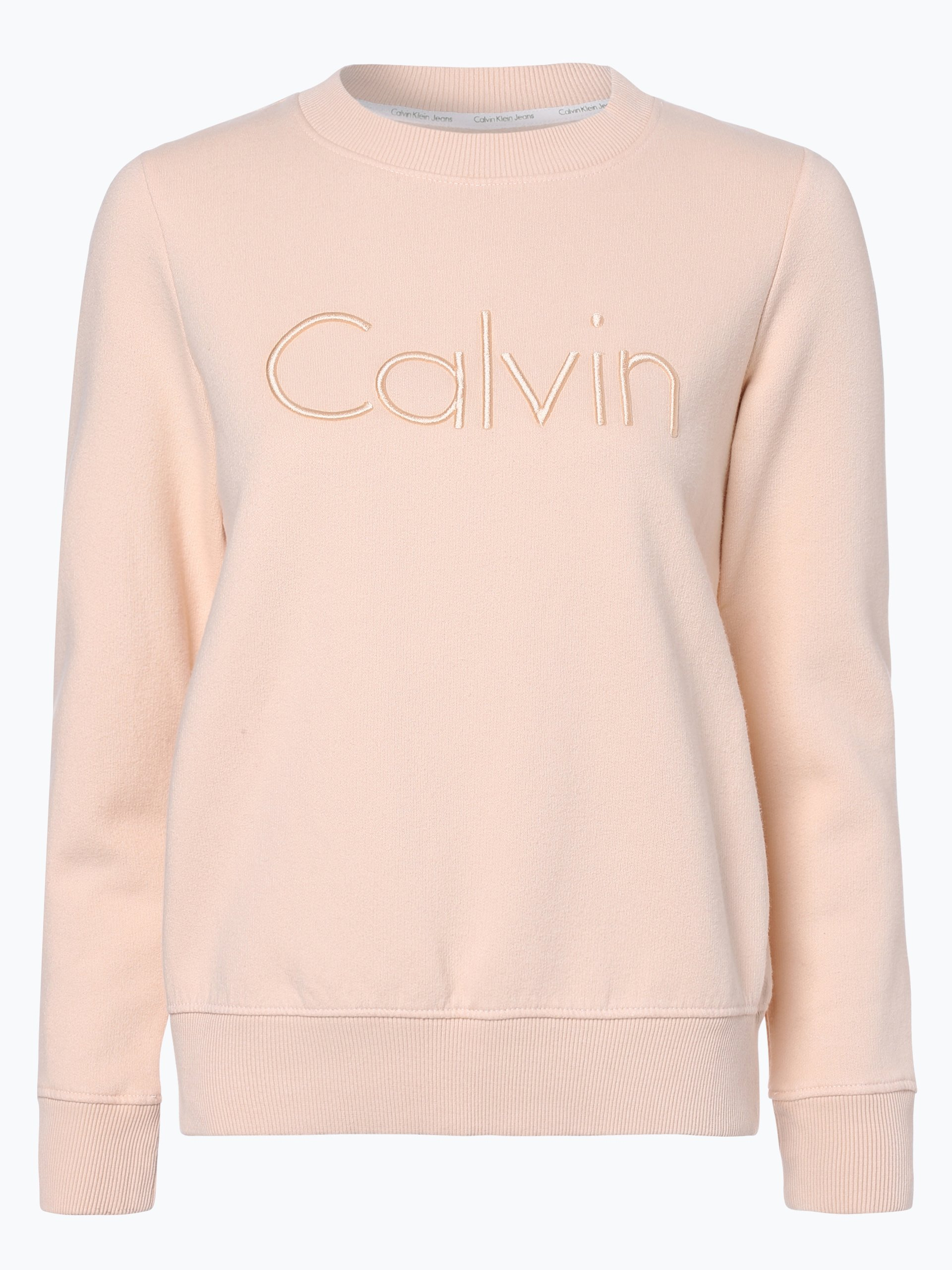 calvin klein jeans damen sweatshirt rosa uni online kaufen. Black Bedroom Furniture Sets. Home Design Ideas