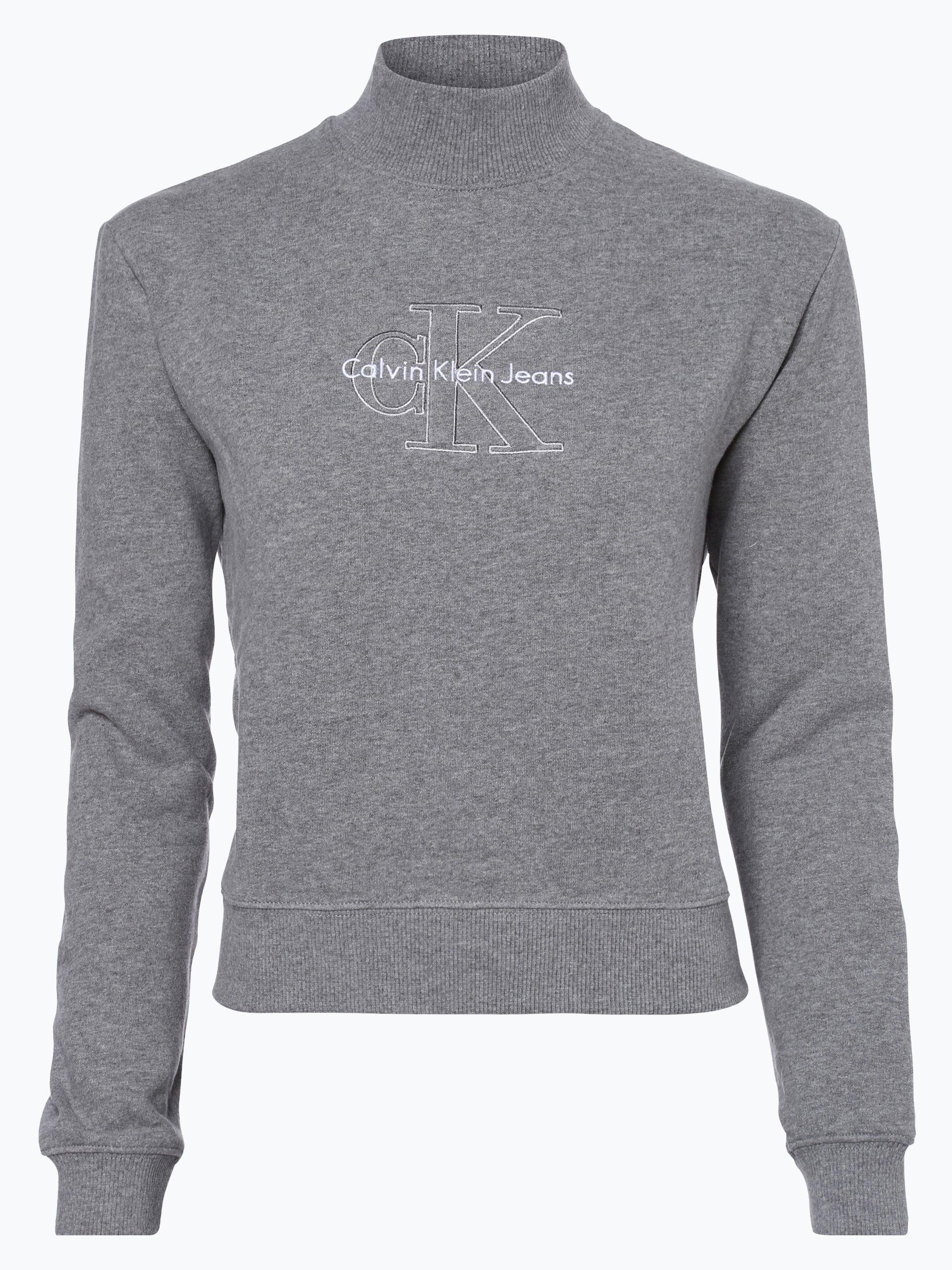 calvin klein jeans damen sweatshirt grau uni online kaufen vangraaf com. Black Bedroom Furniture Sets. Home Design Ideas