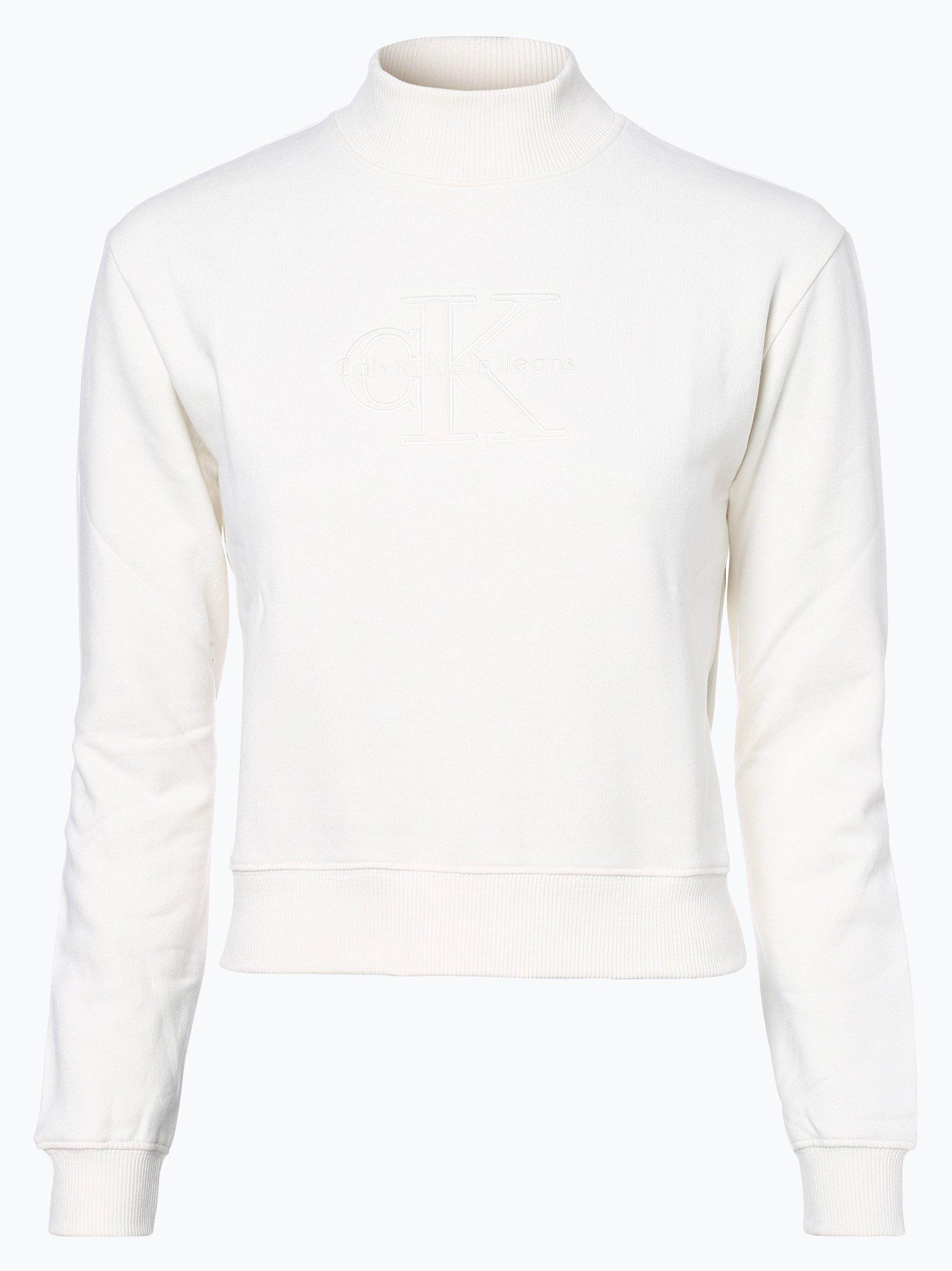calvin klein jeans damen sweatshirt ecru uni online kaufen vangraaf com. Black Bedroom Furniture Sets. Home Design Ideas