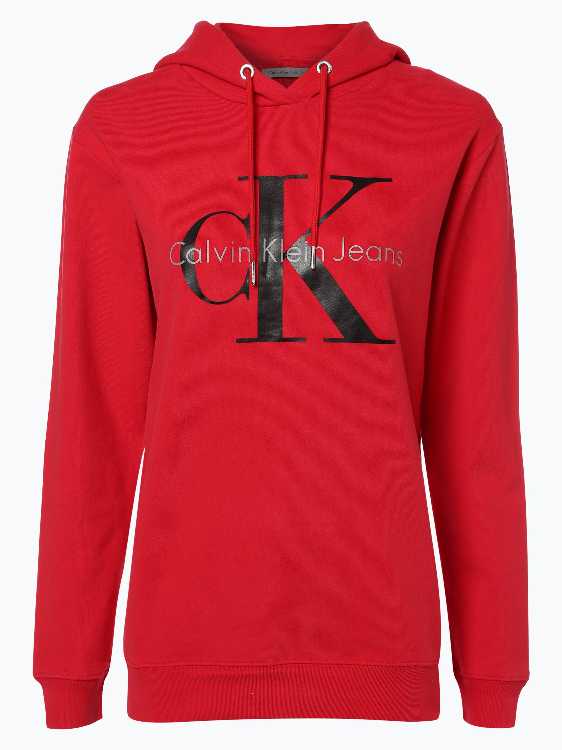 calvin klein jeans damen sweatshirt rot gemustert online. Black Bedroom Furniture Sets. Home Design Ideas
