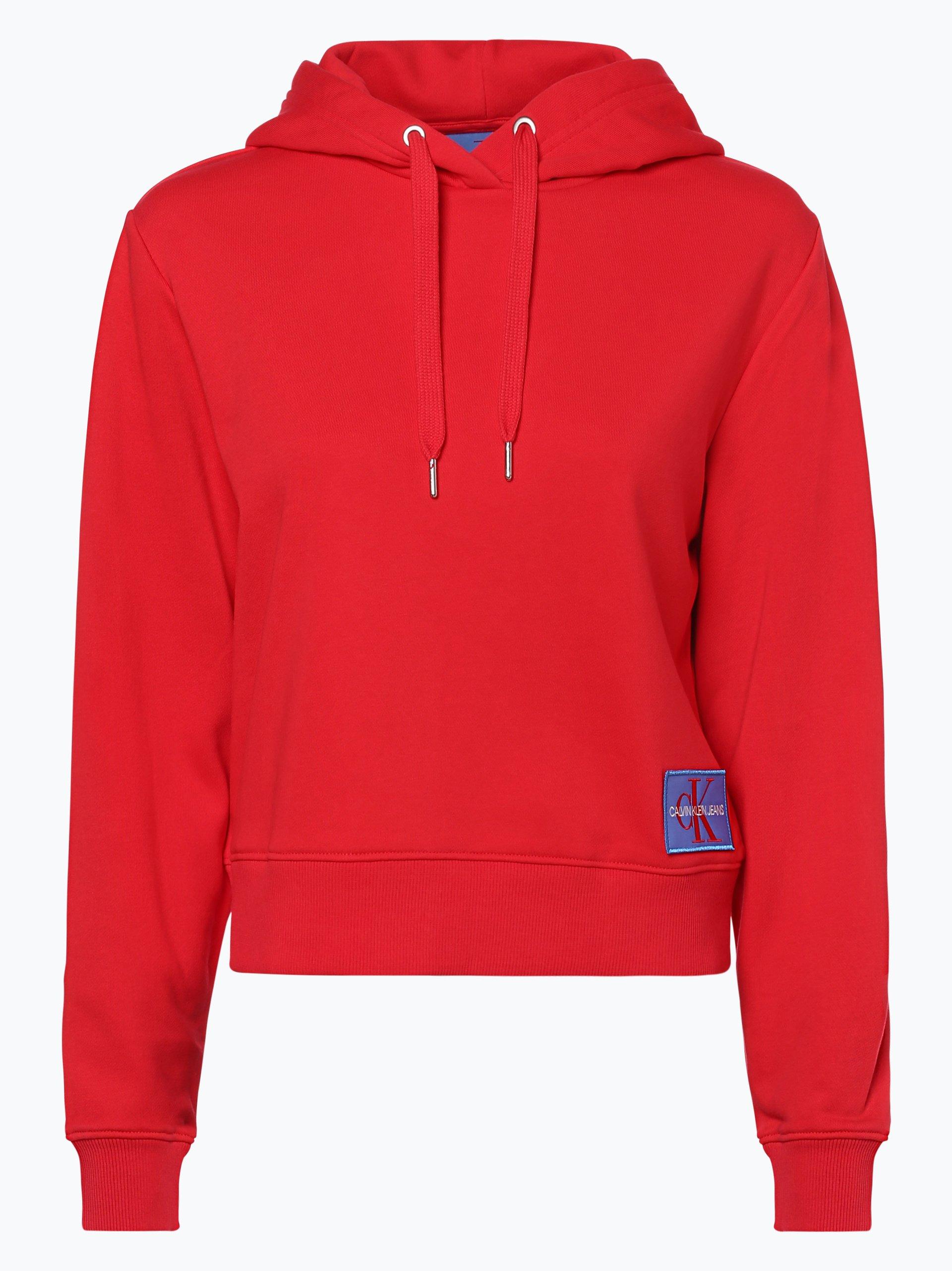 calvin klein jeans damen sweatshirt rot uni online kaufen vangraaf com. Black Bedroom Furniture Sets. Home Design Ideas
