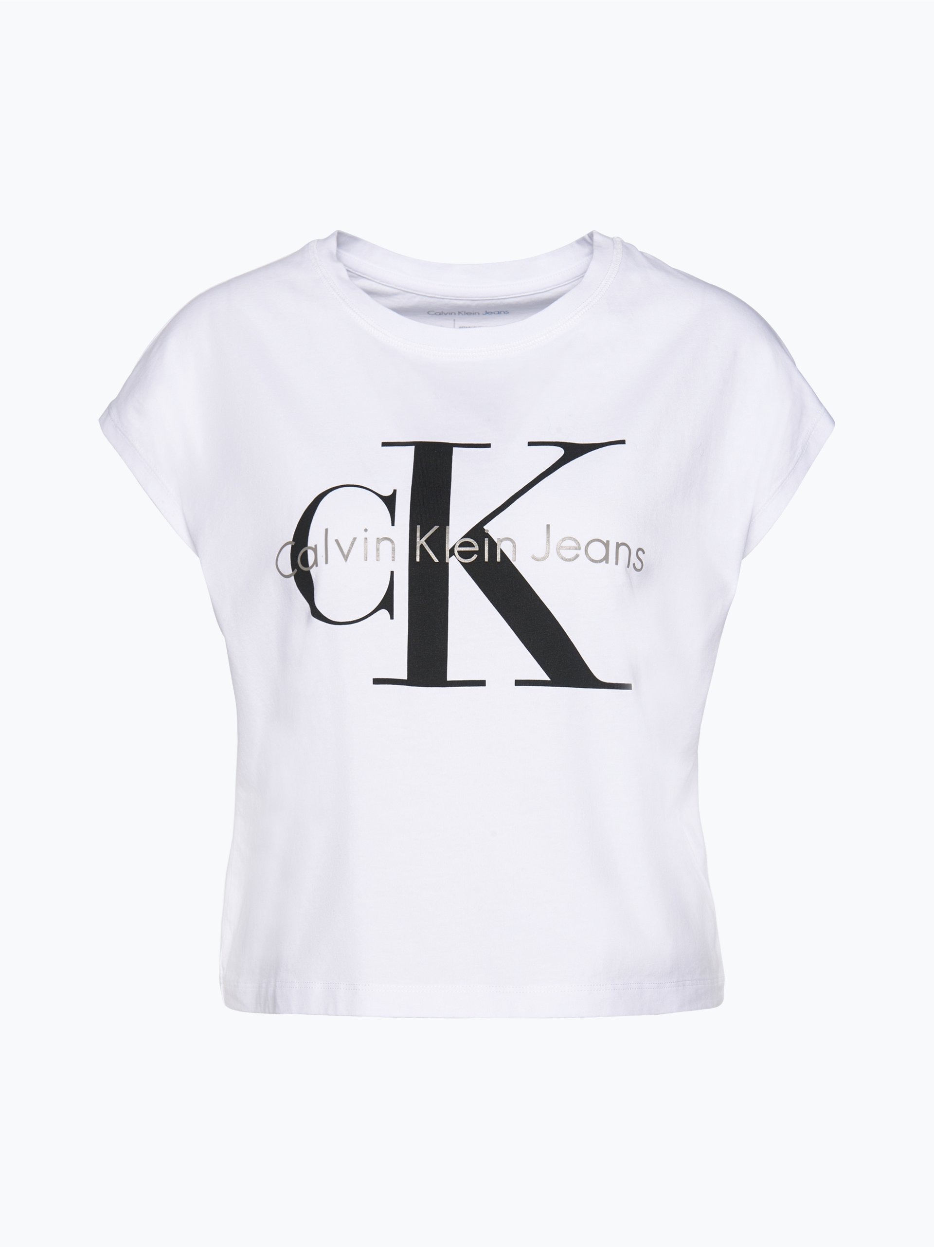 calvin klein jeans damen t shirt wei gemustert online. Black Bedroom Furniture Sets. Home Design Ideas