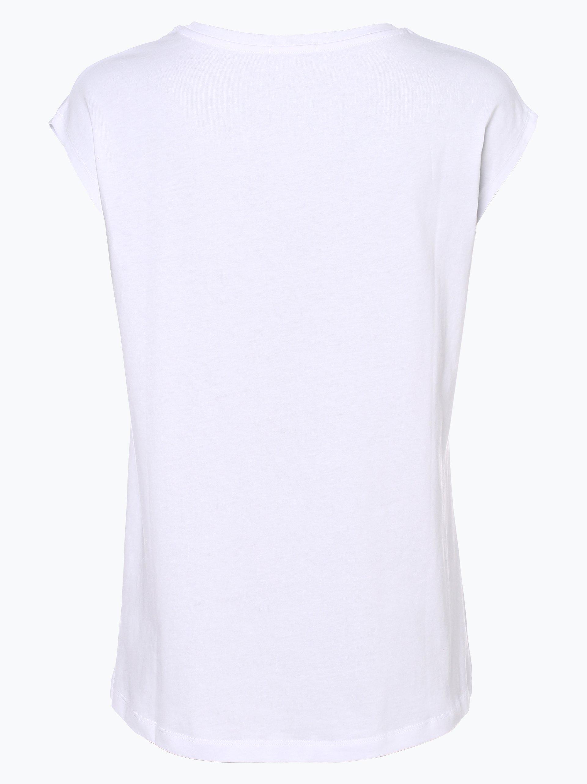 calvin klein jeans damen t shirt wei uni online kaufen peek und cloppenburg de. Black Bedroom Furniture Sets. Home Design Ideas