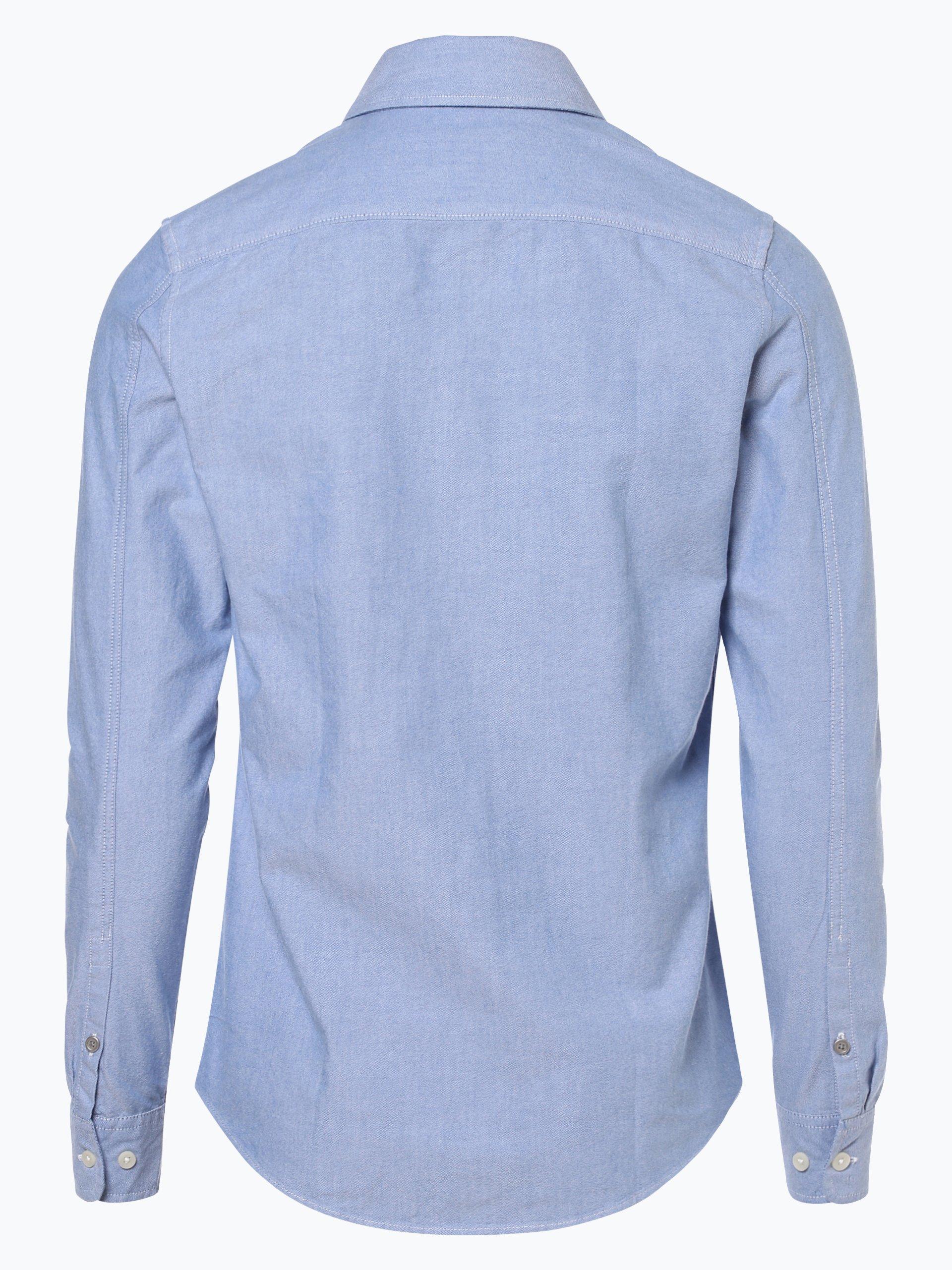 calvin klein jeans herren hemd hellblau uni online kaufen. Black Bedroom Furniture Sets. Home Design Ideas