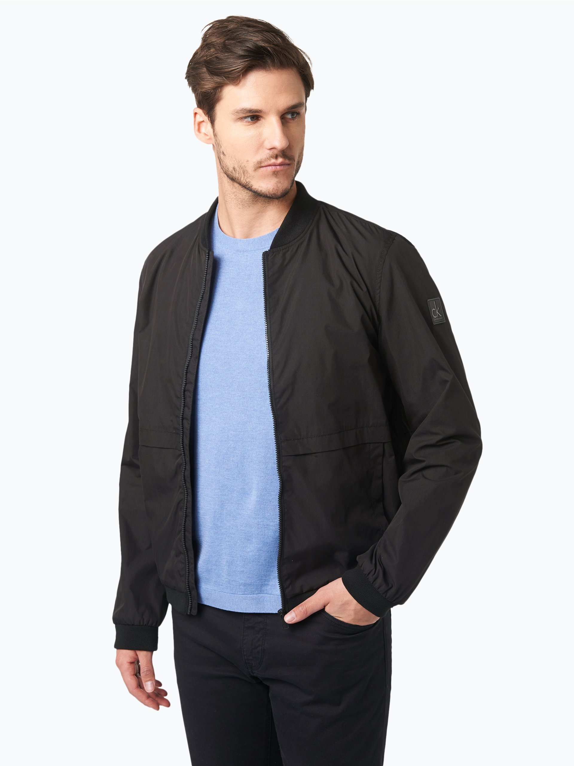 calvin klein jeans herren jacke schwarz uni online kaufen. Black Bedroom Furniture Sets. Home Design Ideas