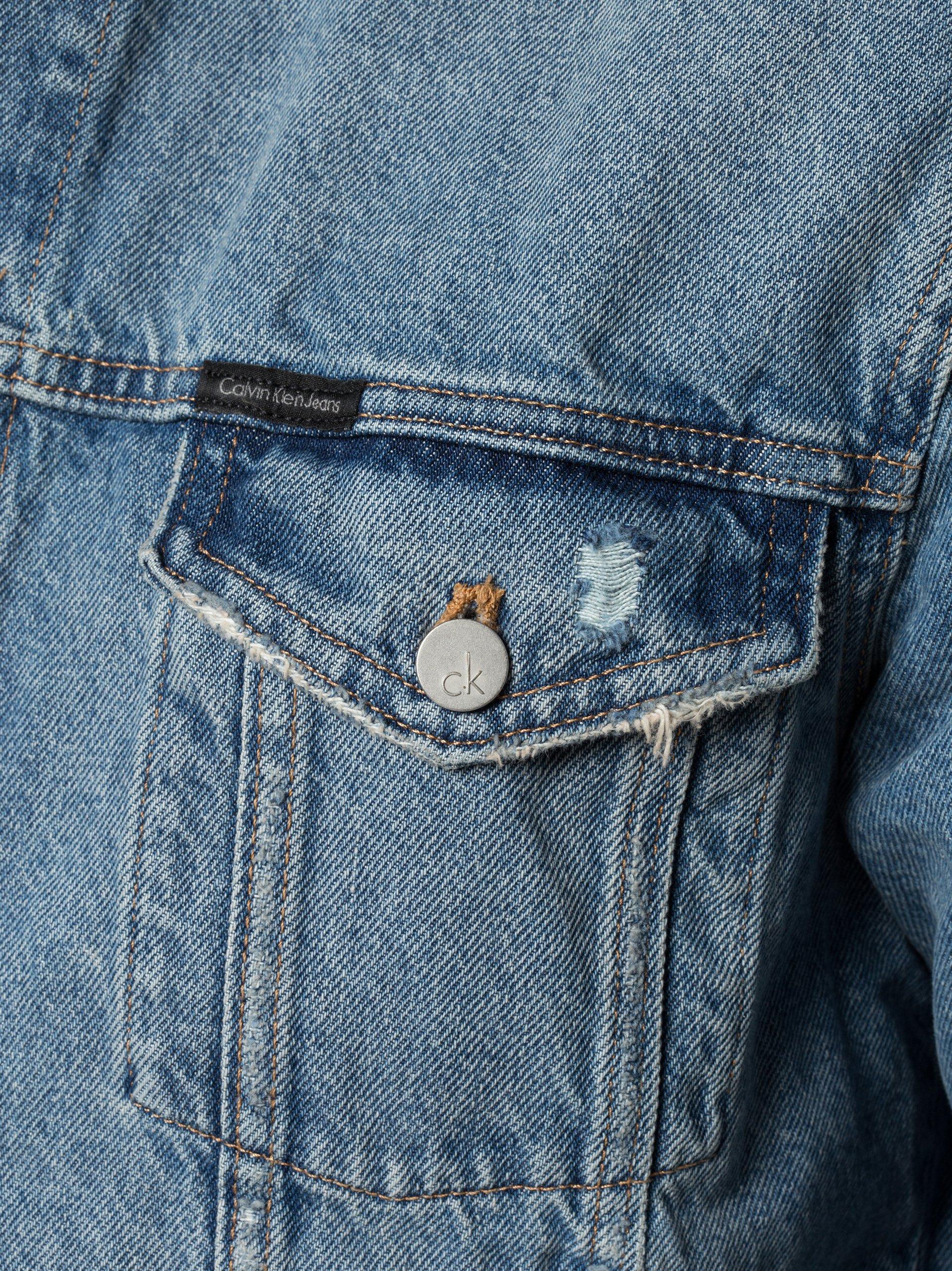 calvin klein jeans herren jeansjacke indigo uni online kaufen vangraaf com. Black Bedroom Furniture Sets. Home Design Ideas