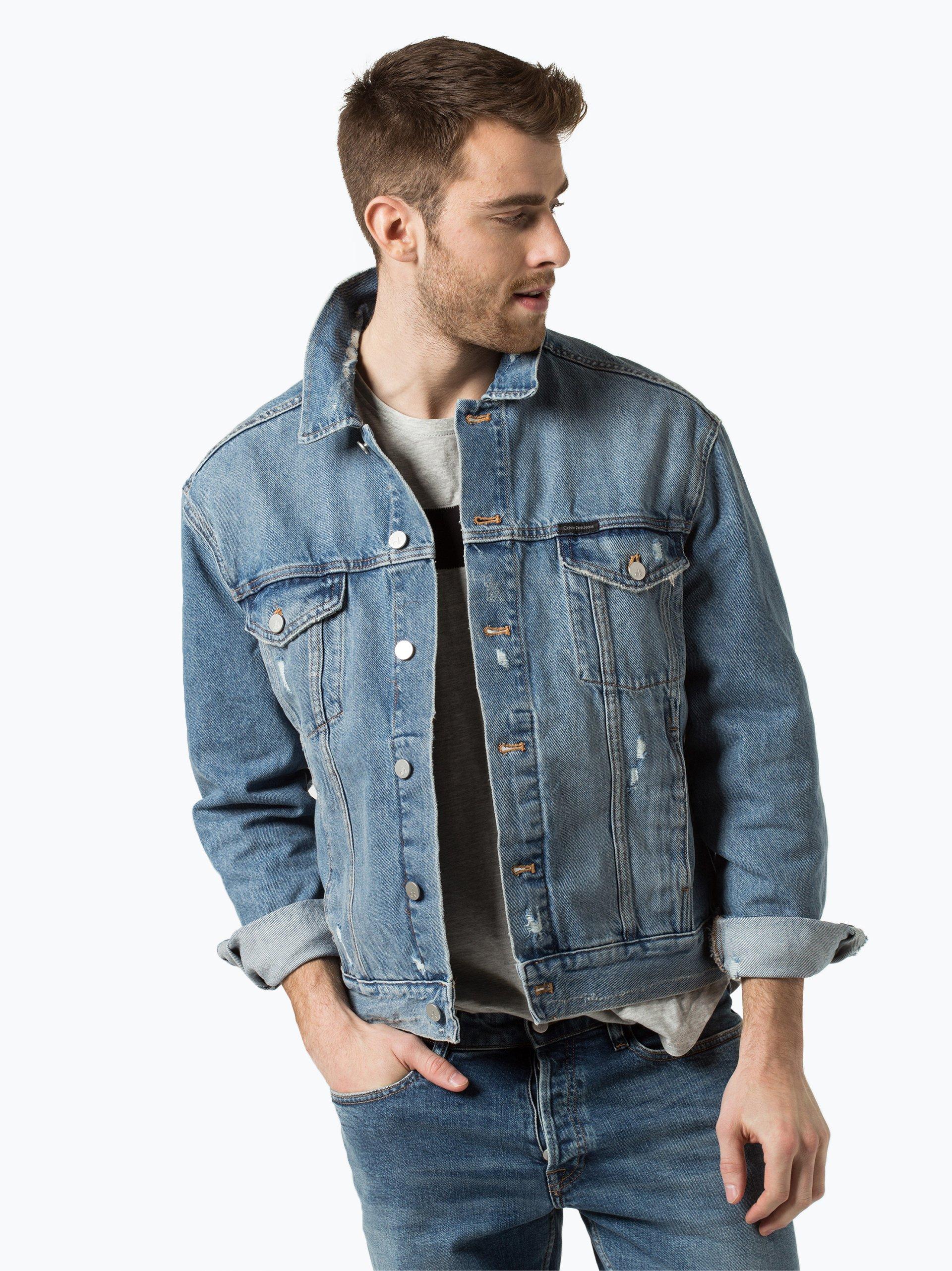 calvin klein jeans herren jeansjacke indigo uni online kaufen peek und cloppenburg de. Black Bedroom Furniture Sets. Home Design Ideas