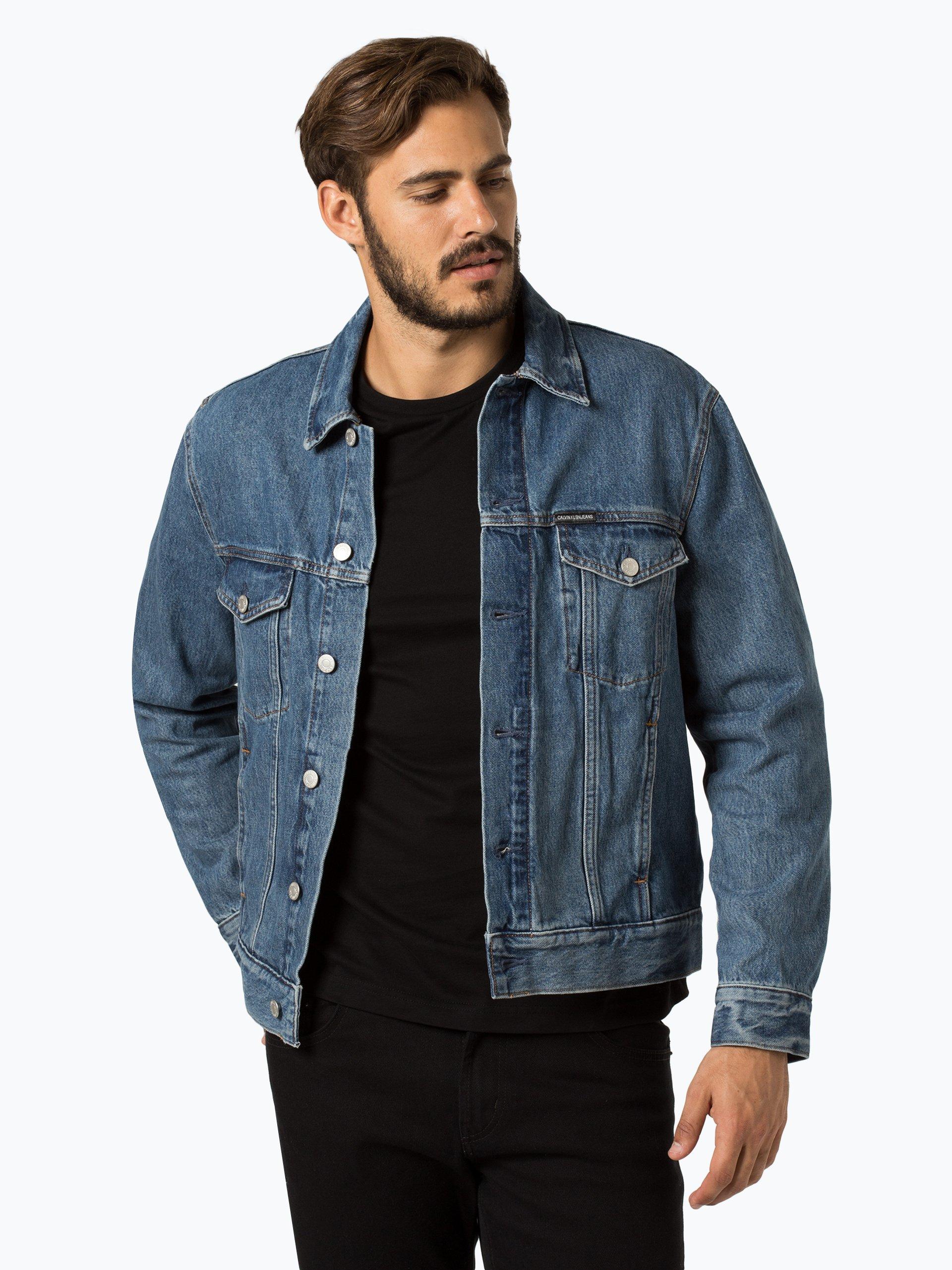 calvin klein jeans herren jeansjacke denim uni online kaufen vangraaf com. Black Bedroom Furniture Sets. Home Design Ideas